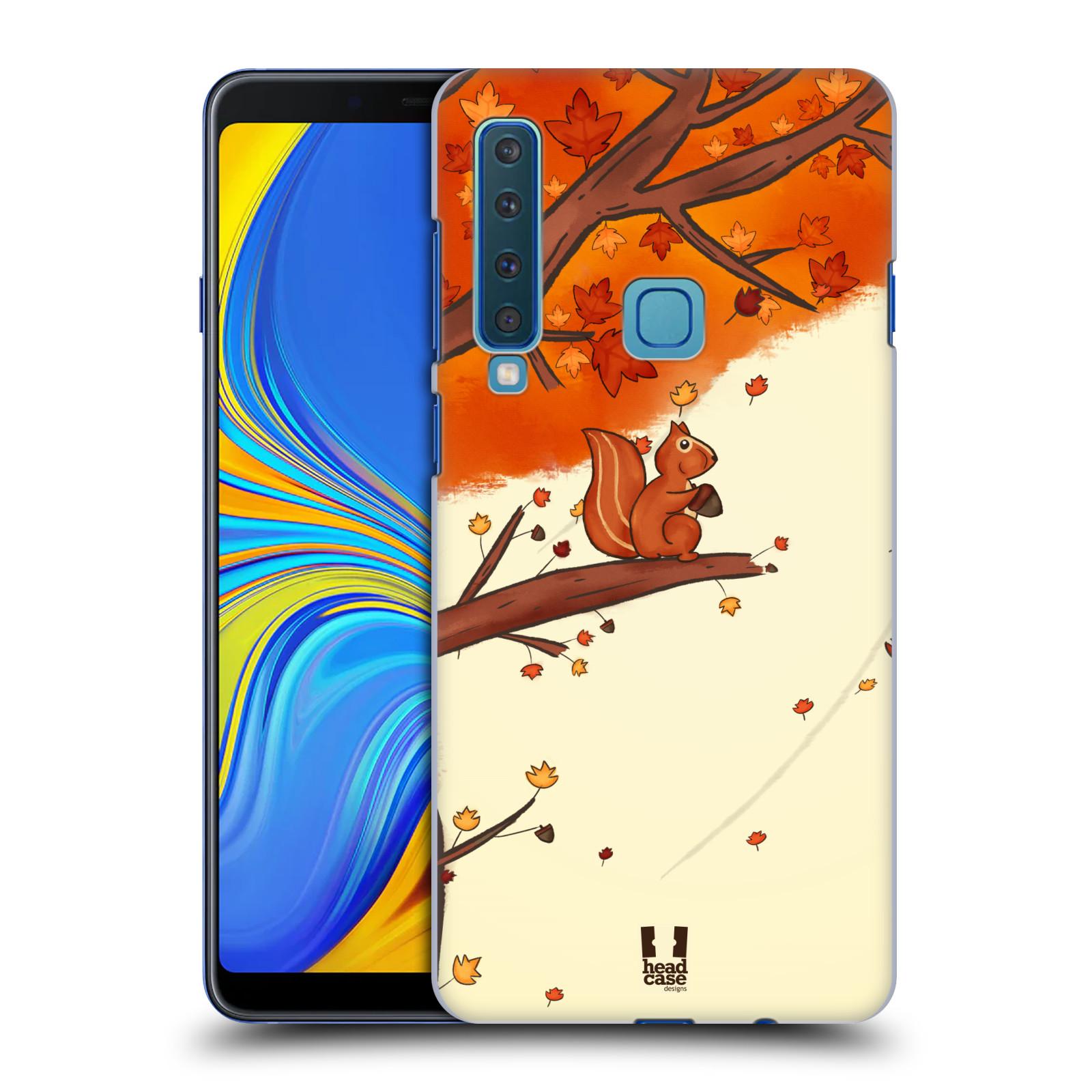 Plastové pouzdro na mobil Samsung Galaxy A9 (2018) - Head Case - PODZIMNÍ VEVERKA