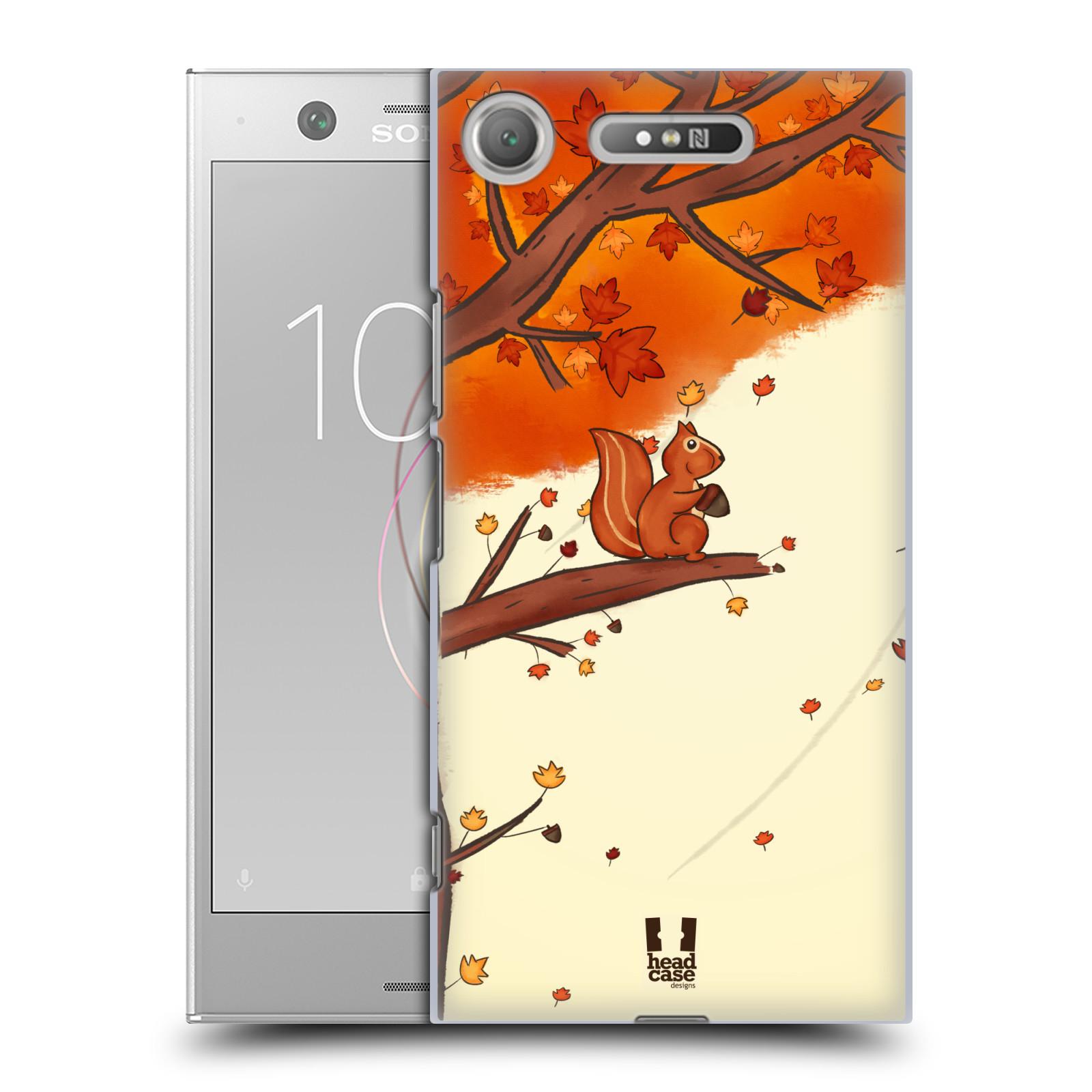 Plastové pouzdro na mobil Sony Xperia XZ1 - Head Case - PODZIMNÍ VEVERKA