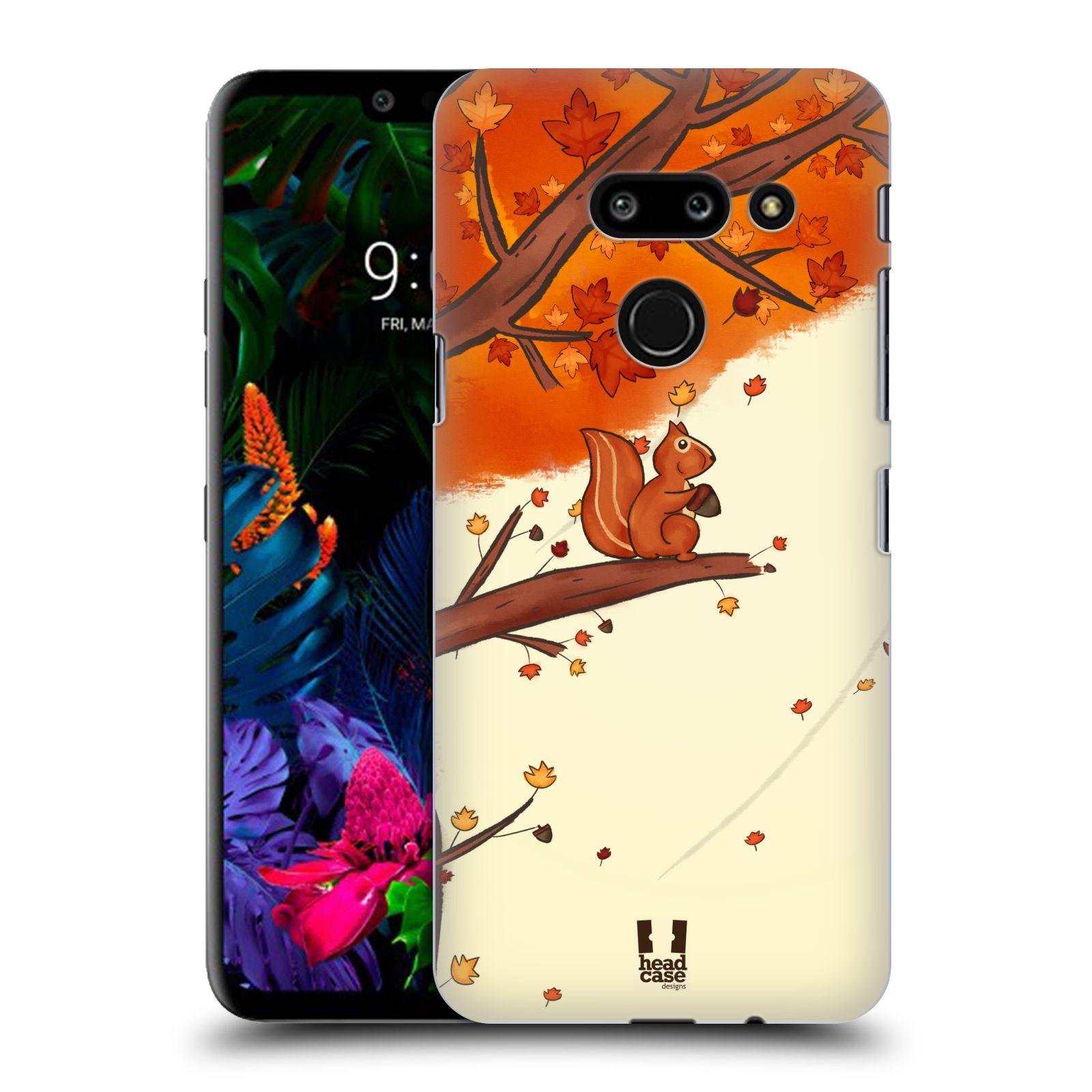 Plastové pouzdro na mobil LG G8 ThinQ - Head Case - PODZIMNÍ VEVERKA