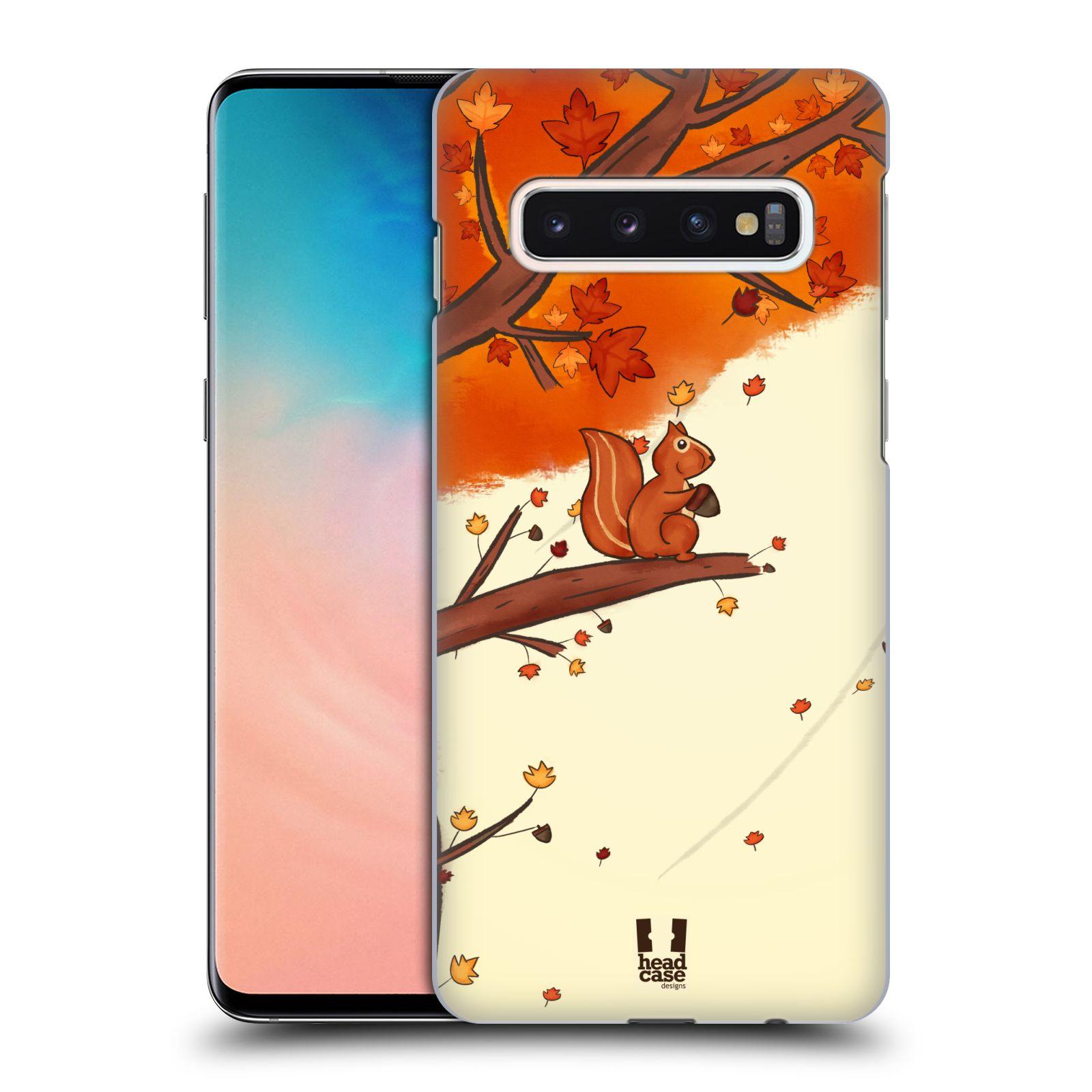 Plastové pouzdro na mobil Samsung Galaxy S10 - Head Case - PODZIMNÍ VEVERKA