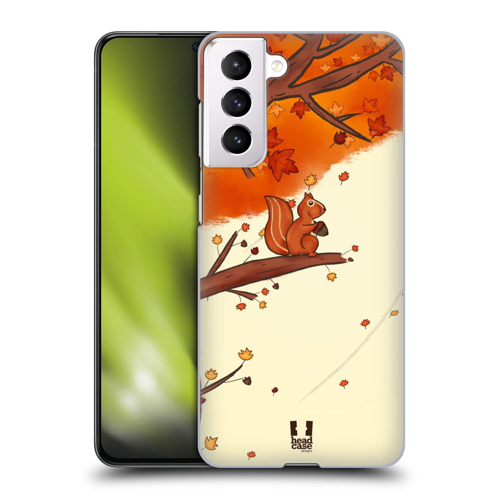 Plastové pouzdro na mobil Samsung Galaxy S21 5G - Head Case - PODZIMNÍ VEVERKA