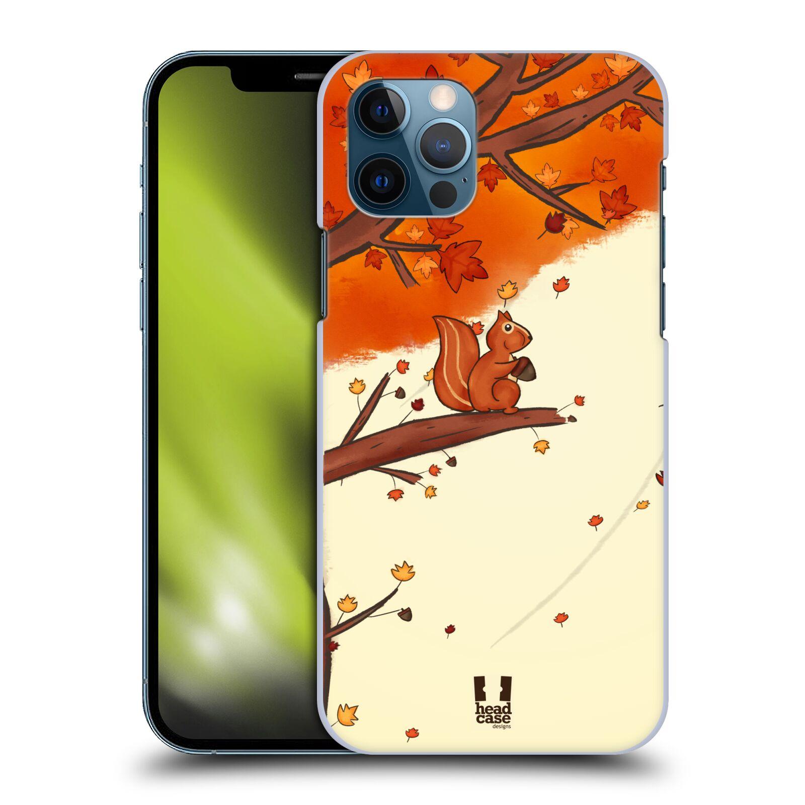 Plastové pouzdro na mobil Apple iPhone 12 / 12 Pro - Head Case - PODZIMNÍ VEVERKA