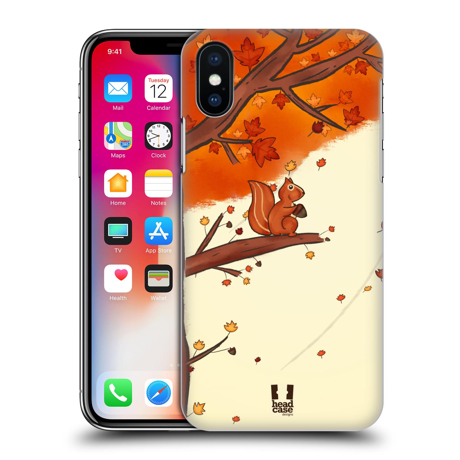 Plastové pouzdro na mobil Apple iPhone X - Head Case - PODZIMNÍ VEVERKA
