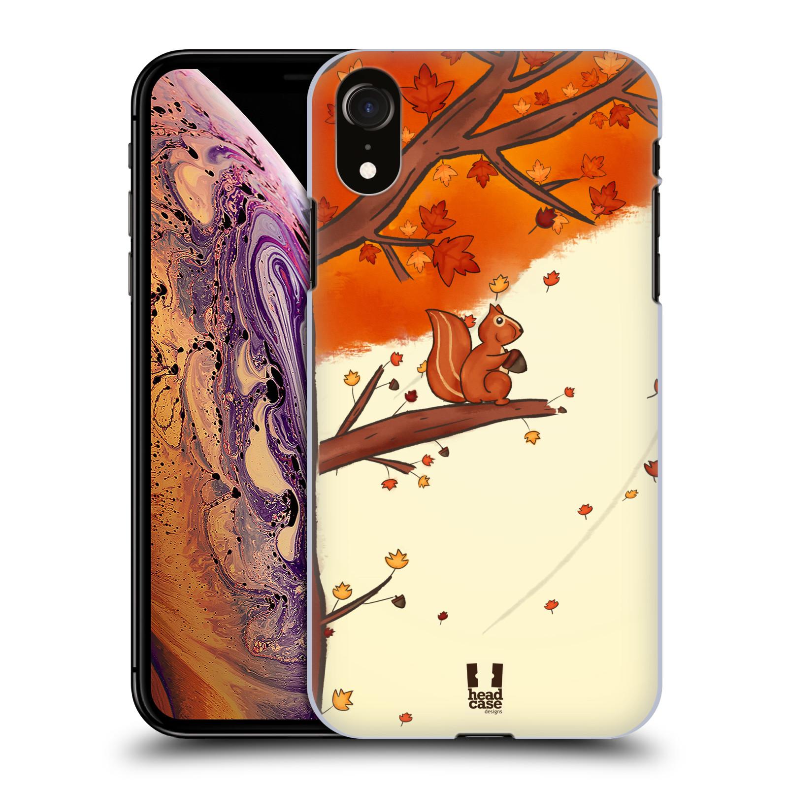 Plastové pouzdro na mobil Apple iPhone XR - Head Case - PODZIMNÍ VEVERKA