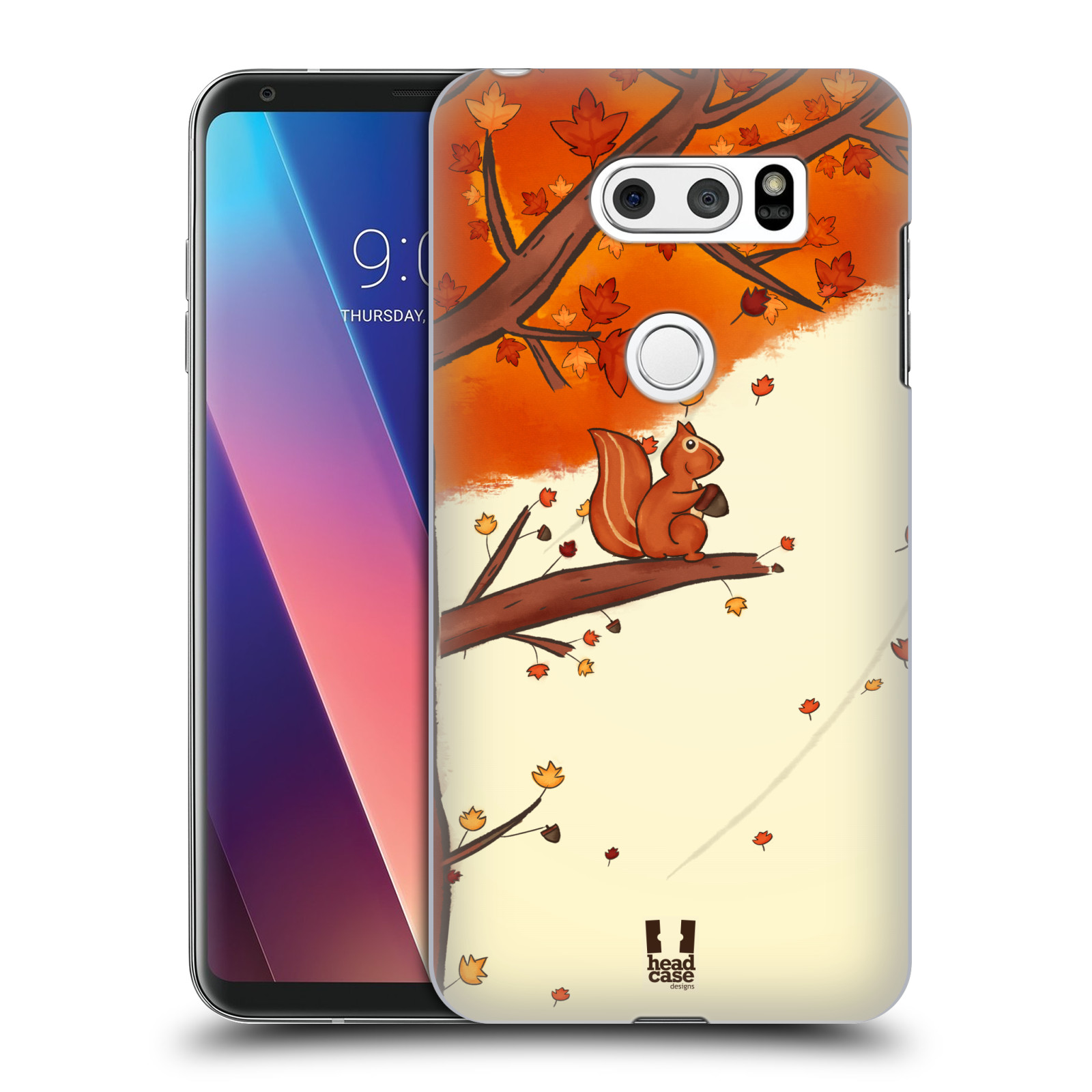 Plastové pouzdro na mobil LG V30 - Head Case - PODZIMNÍ VEVERKA