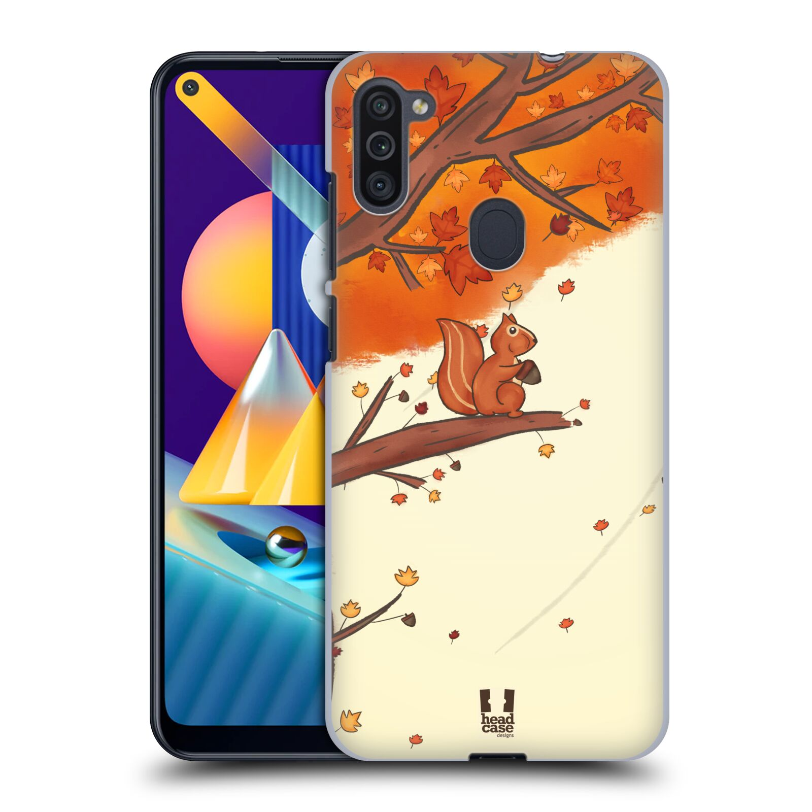 Plastové pouzdro na mobil Samsung Galaxy M11 - Head Case - PODZIMNÍ VEVERKA