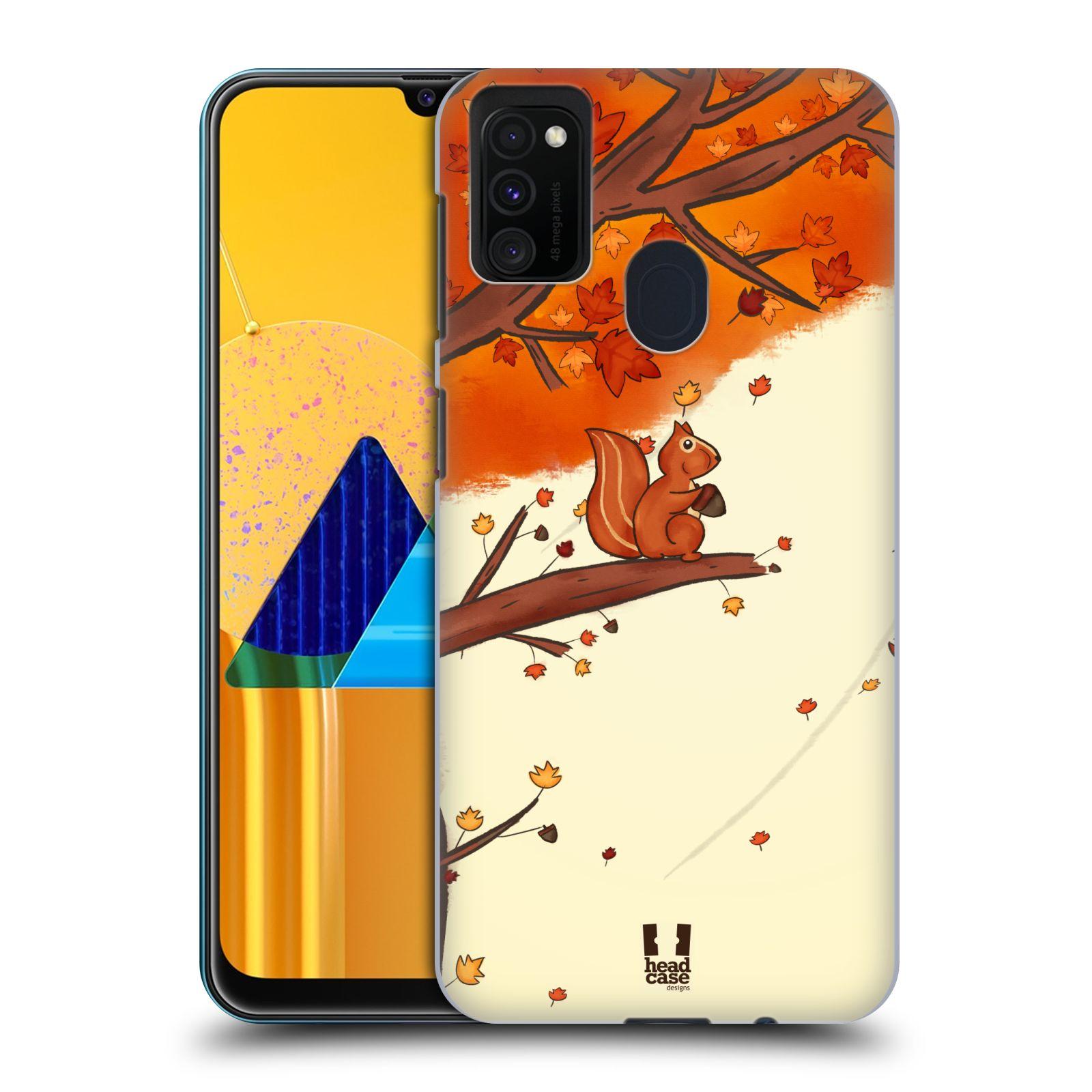 Plastové pouzdro na mobil Samsung Galaxy M21 - Head Case - PODZIMNÍ VEVERKA