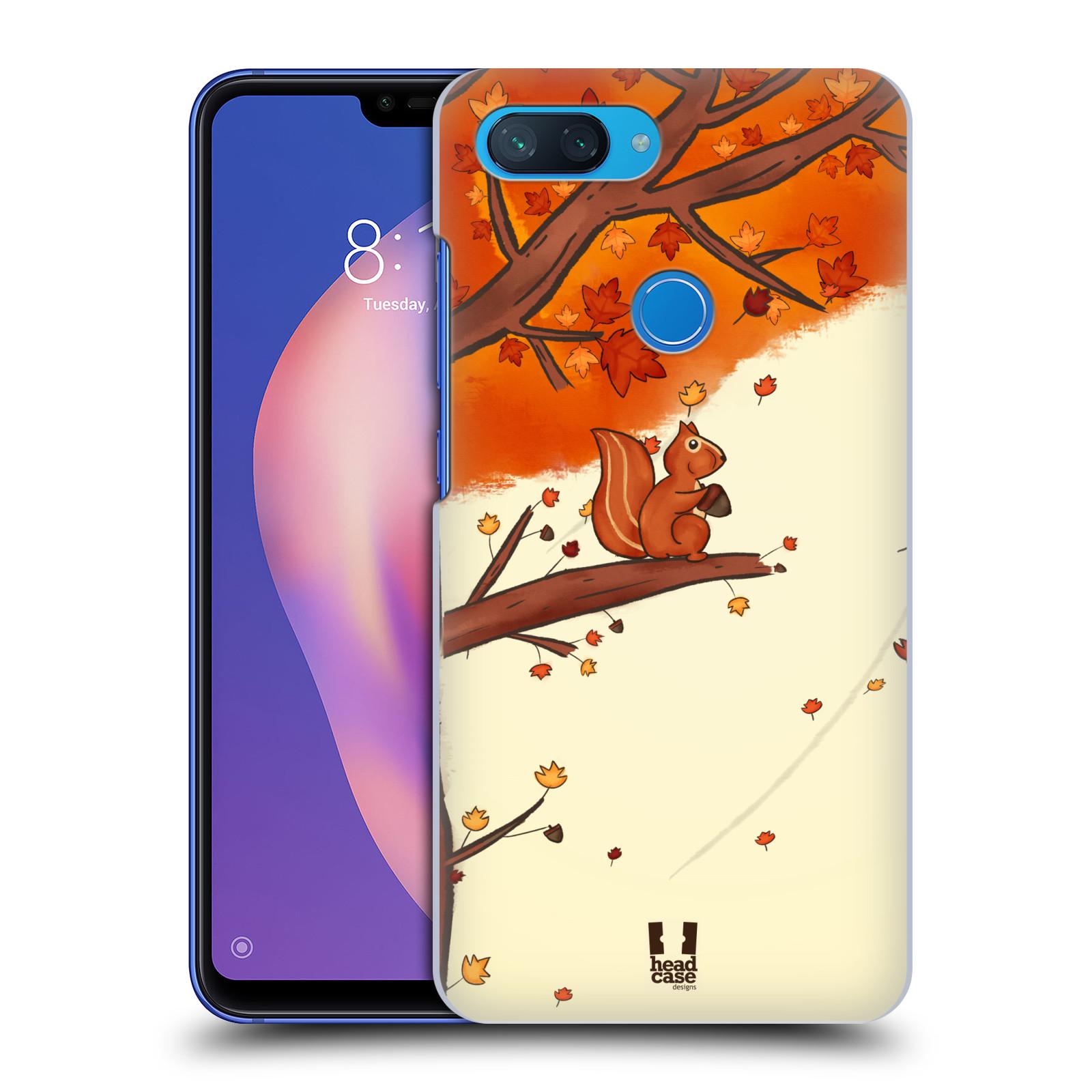 Plastové pouzdro na mobil Xiaomi Mi 8 Lite - Head Case - PODZIMNÍ VEVERKA