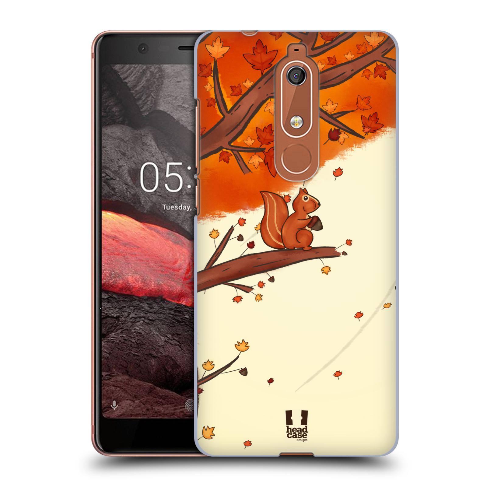 Plastové pouzdro na mobil Nokia 5.1 - Head Case - PODZIMNÍ VEVERKA
