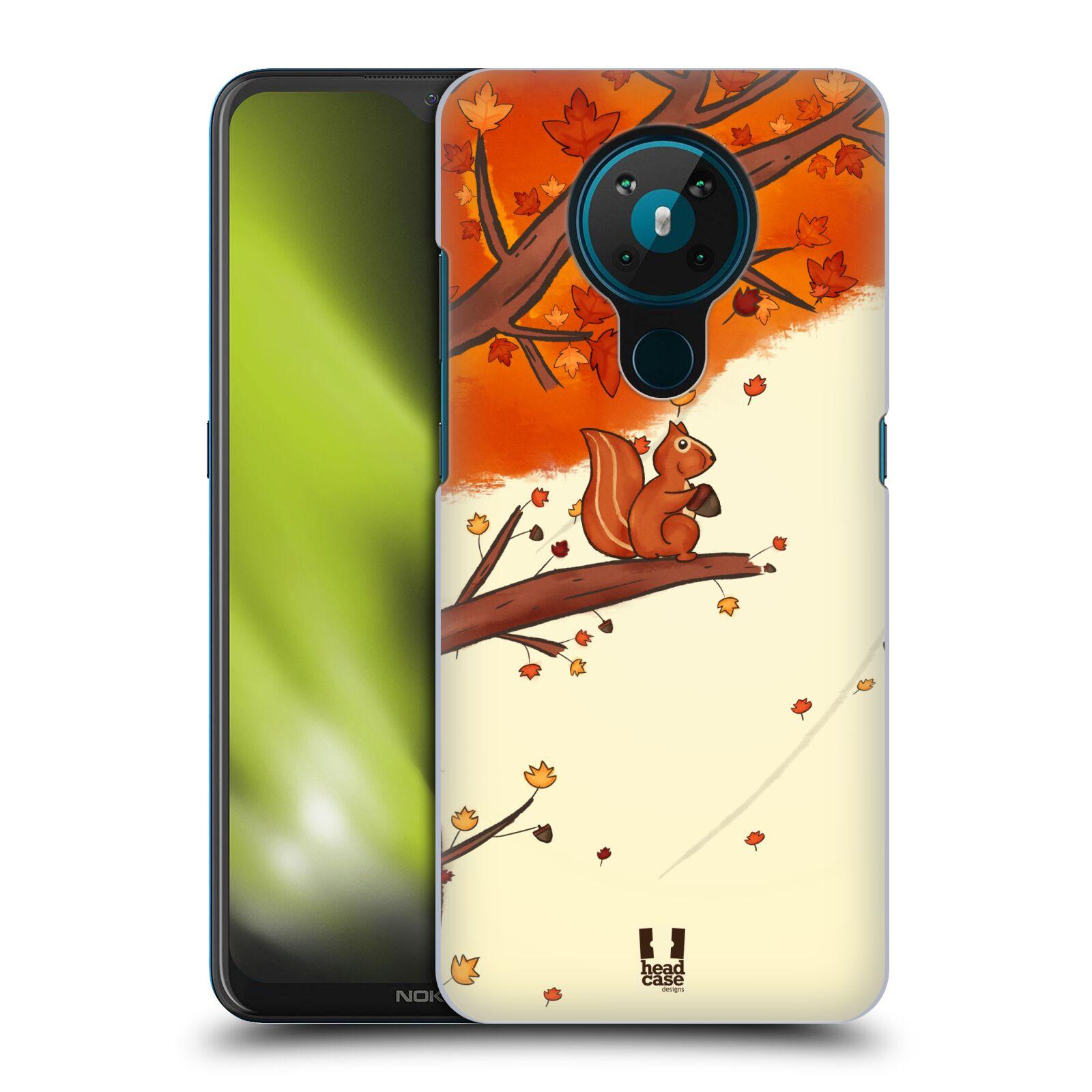 Plastové pouzdro na mobil Nokia 5.3 - Head Case - PODZIMNÍ VEVERKA