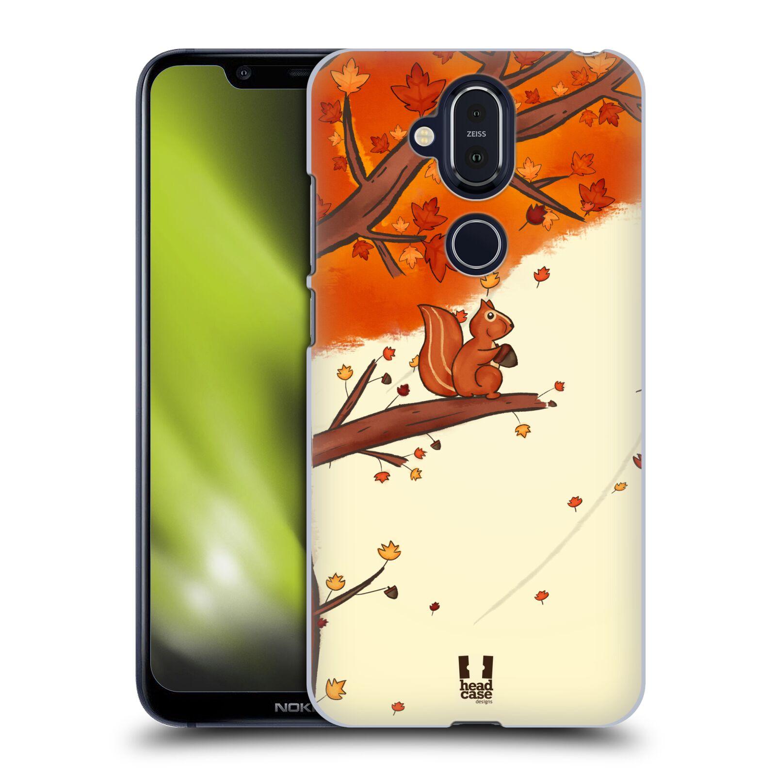 Plastové pouzdro na mobil Nokia 8.1 - Head Case - PODZIMNÍ VEVERKA