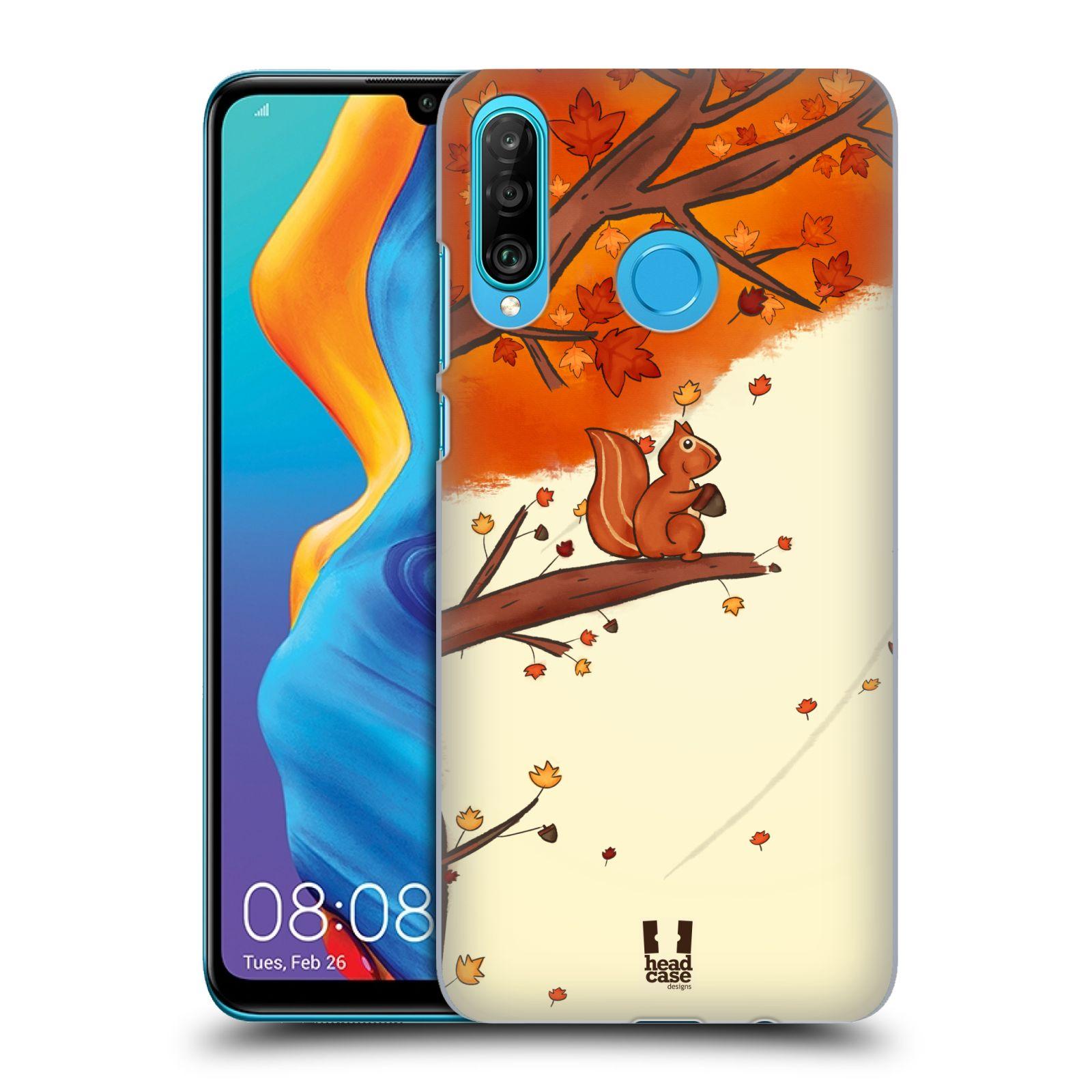 Plastové pouzdro na mobil Huawei P30 Lite - Head Case - PODZIMNÍ VEVERKA