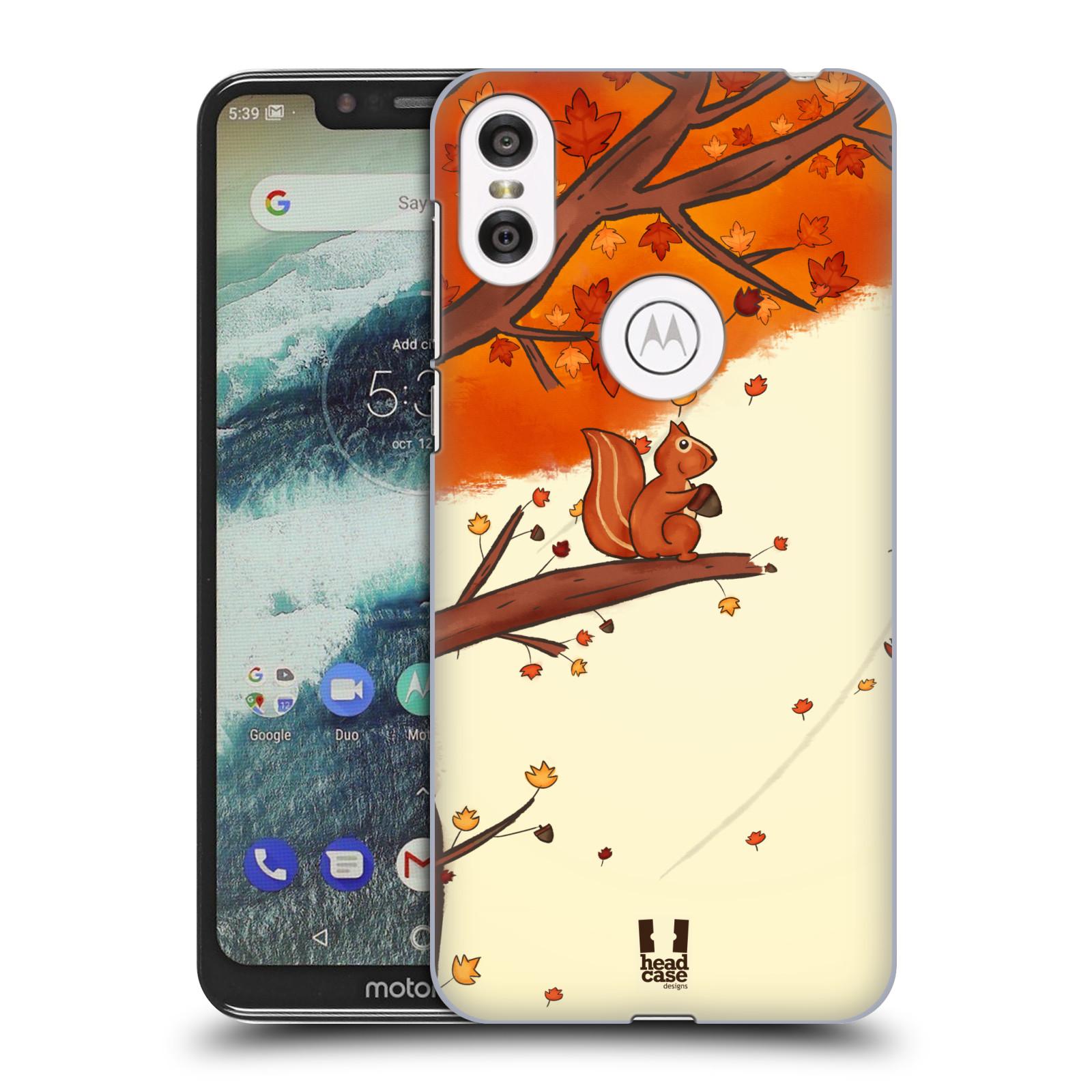 Plastové pouzdro na mobil Motorola One - Head Case - PODZIMNÍ VEVERKA