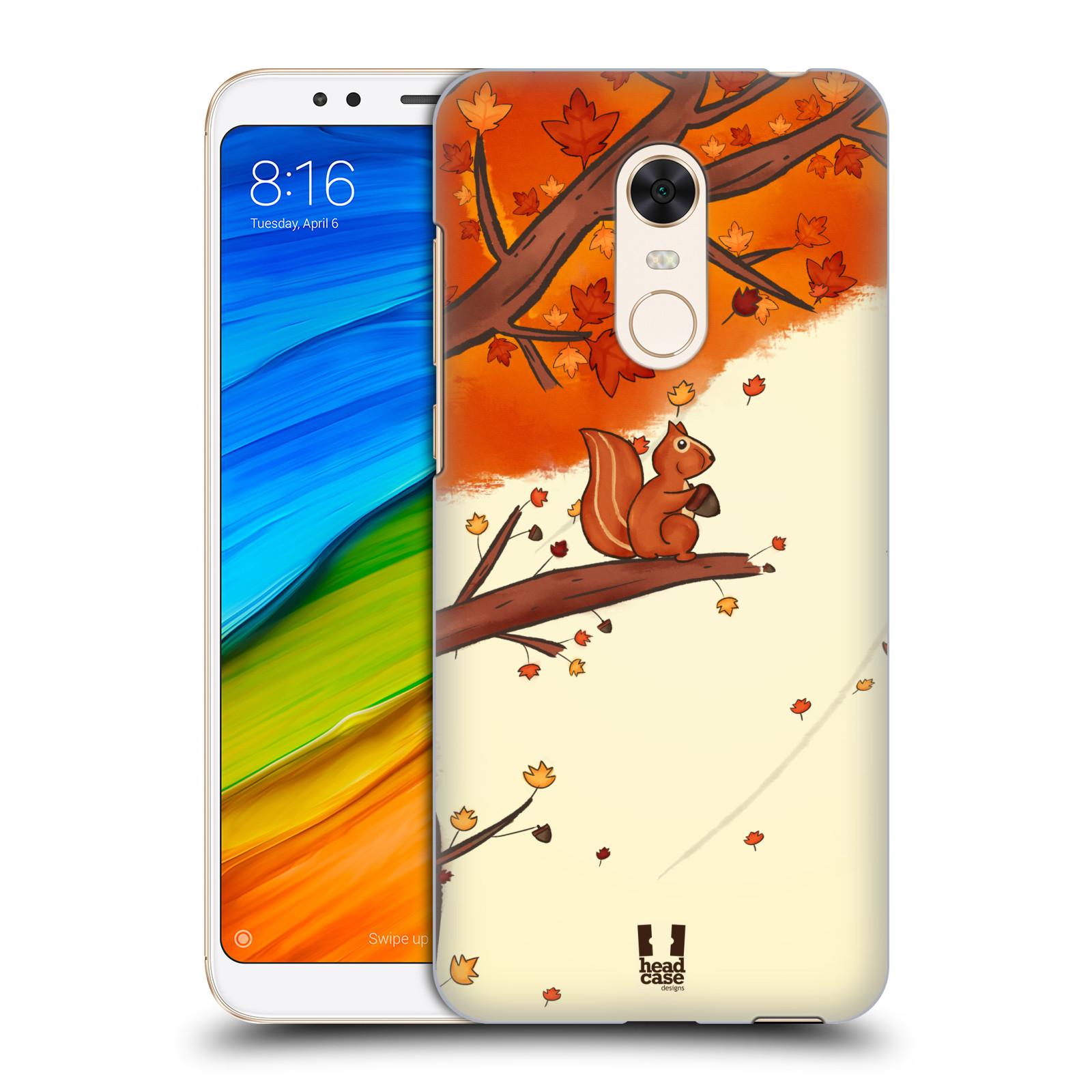 Plastové pouzdro na mobil Xiaomi Redmi 5 Plus - Head Case - PODZIMNÍ VEVERKA