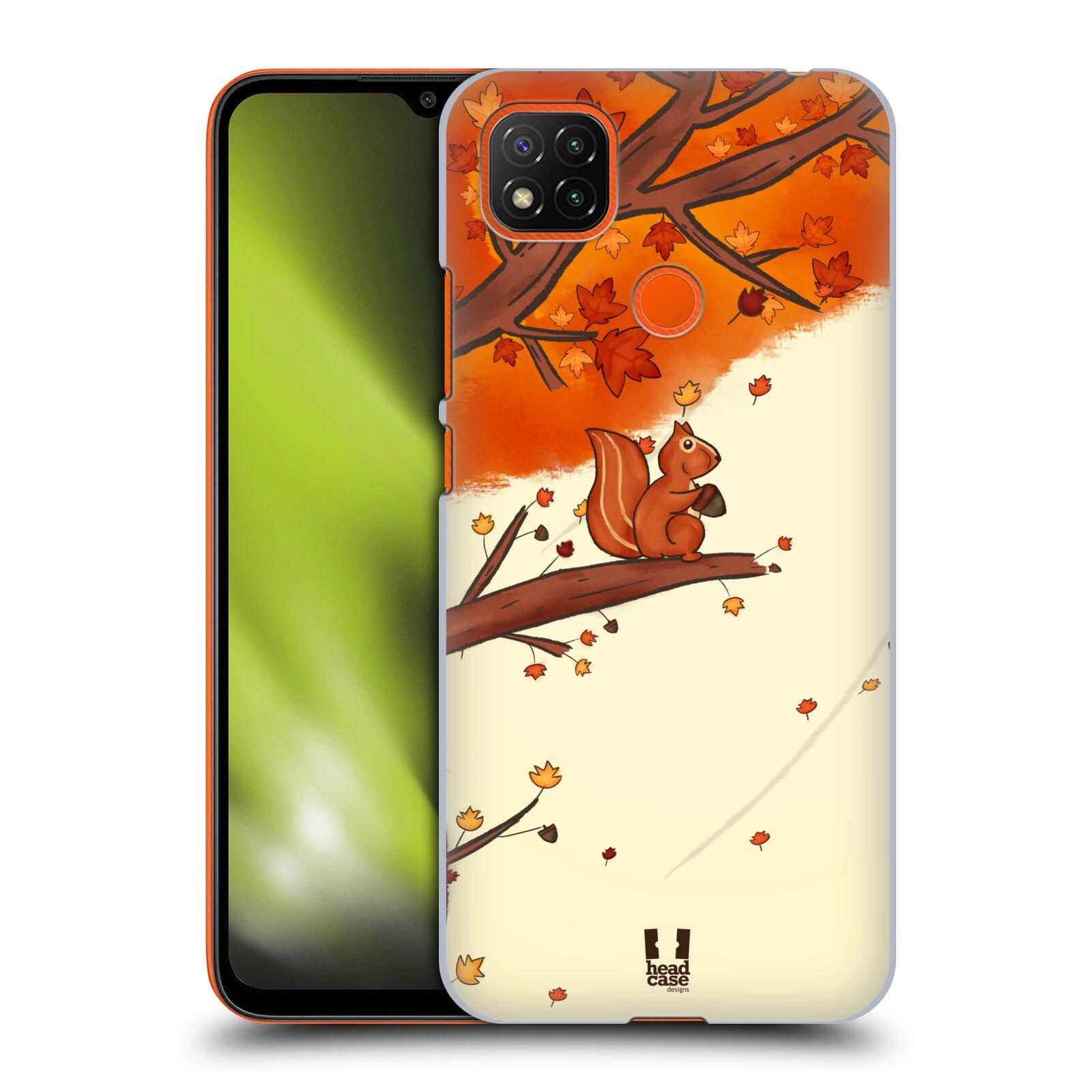 Plastové pouzdro na mobil Xiaomi Redmi 9C - Head Case - PODZIMNÍ VEVERKA