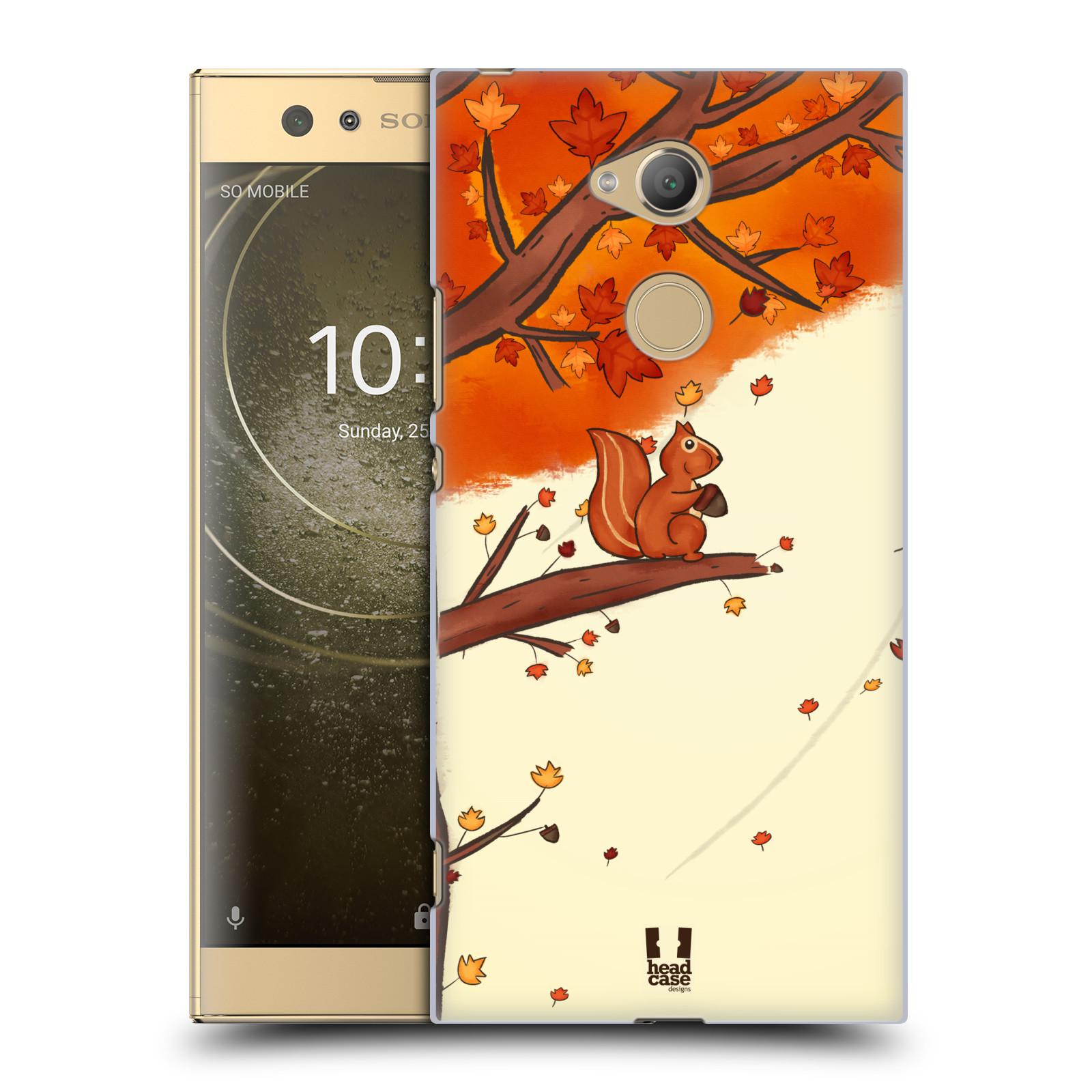 Plastové pouzdro na mobil Sony Xperia XA2 Ultra - Head Case - PODZIMNÍ VEVERKA