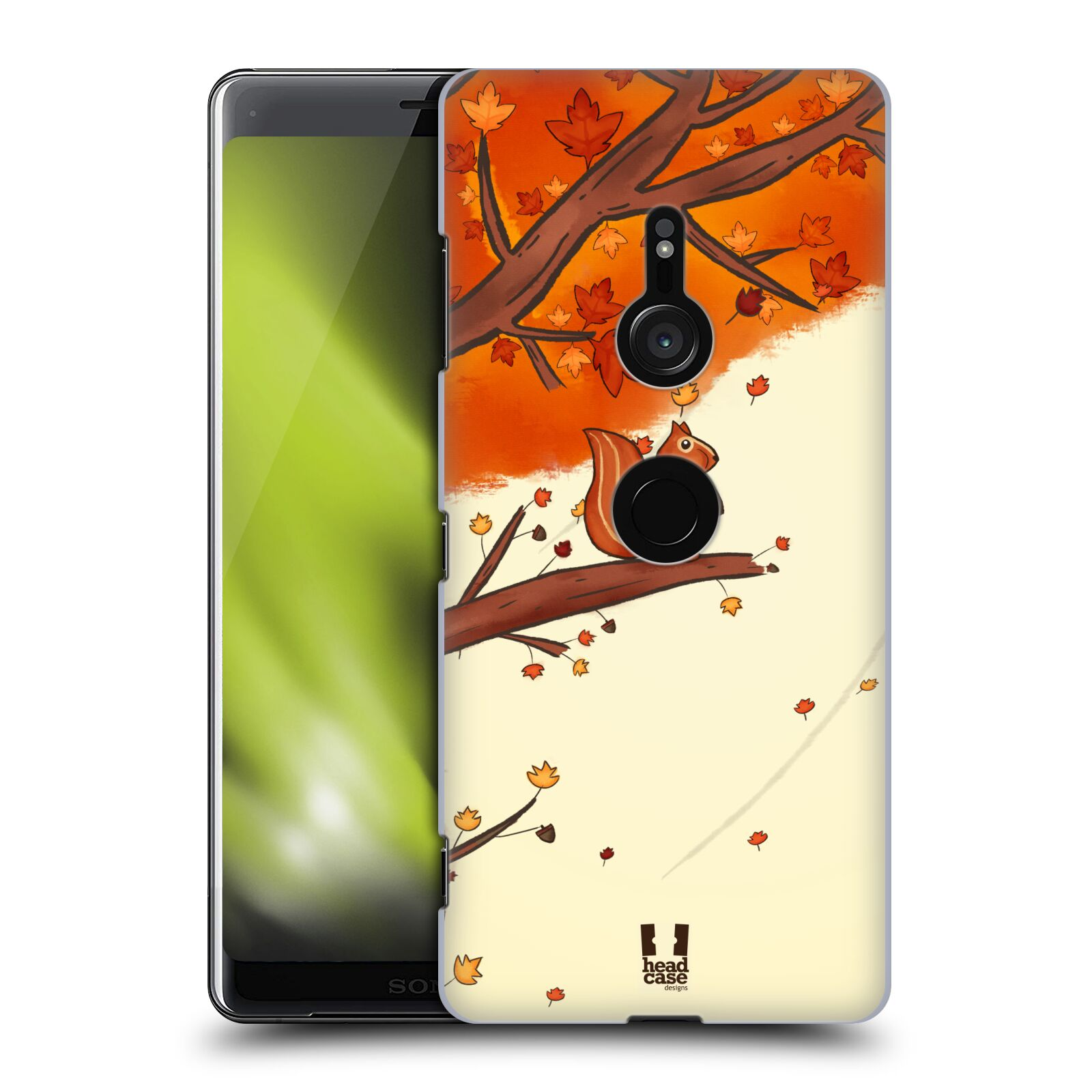 Plastové pouzdro na mobil Sony Xperia XZ3 - Head Case - PODZIMNÍ VEVERKA