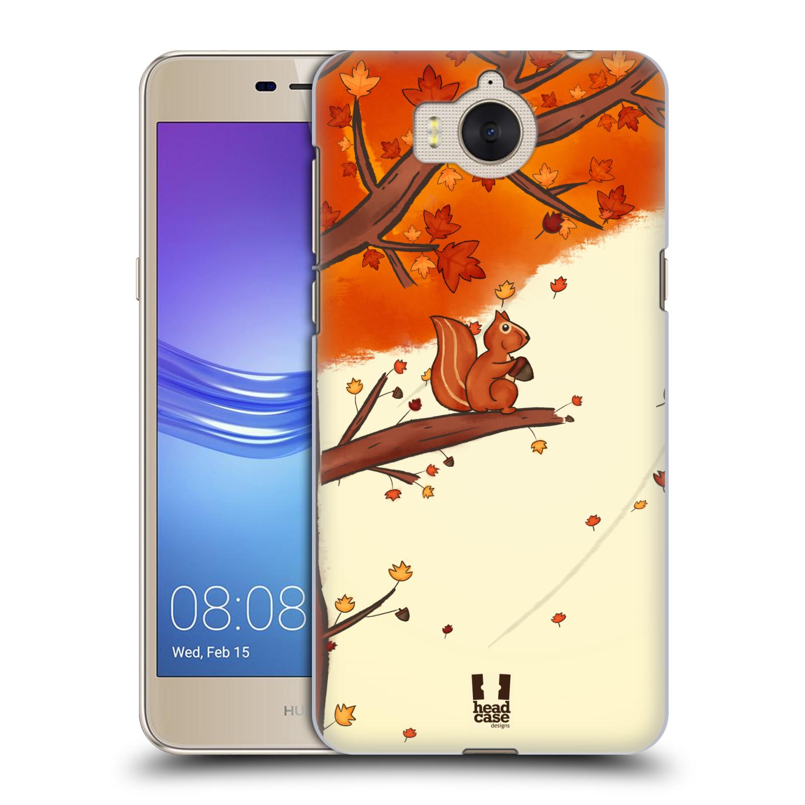 Plastové pouzdro na mobil Huawei Y6 2017 - Head Case - PODZIMNÍ VEVERKA