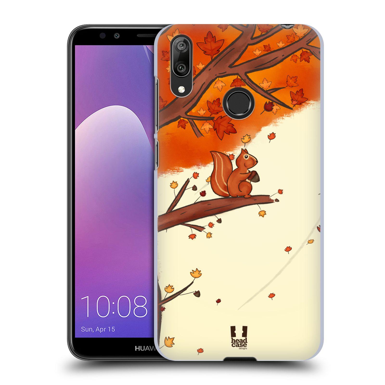 Plastové pouzdro na mobil Huawei Y7 (2019) - Head Case - PODZIMNÍ VEVERKA