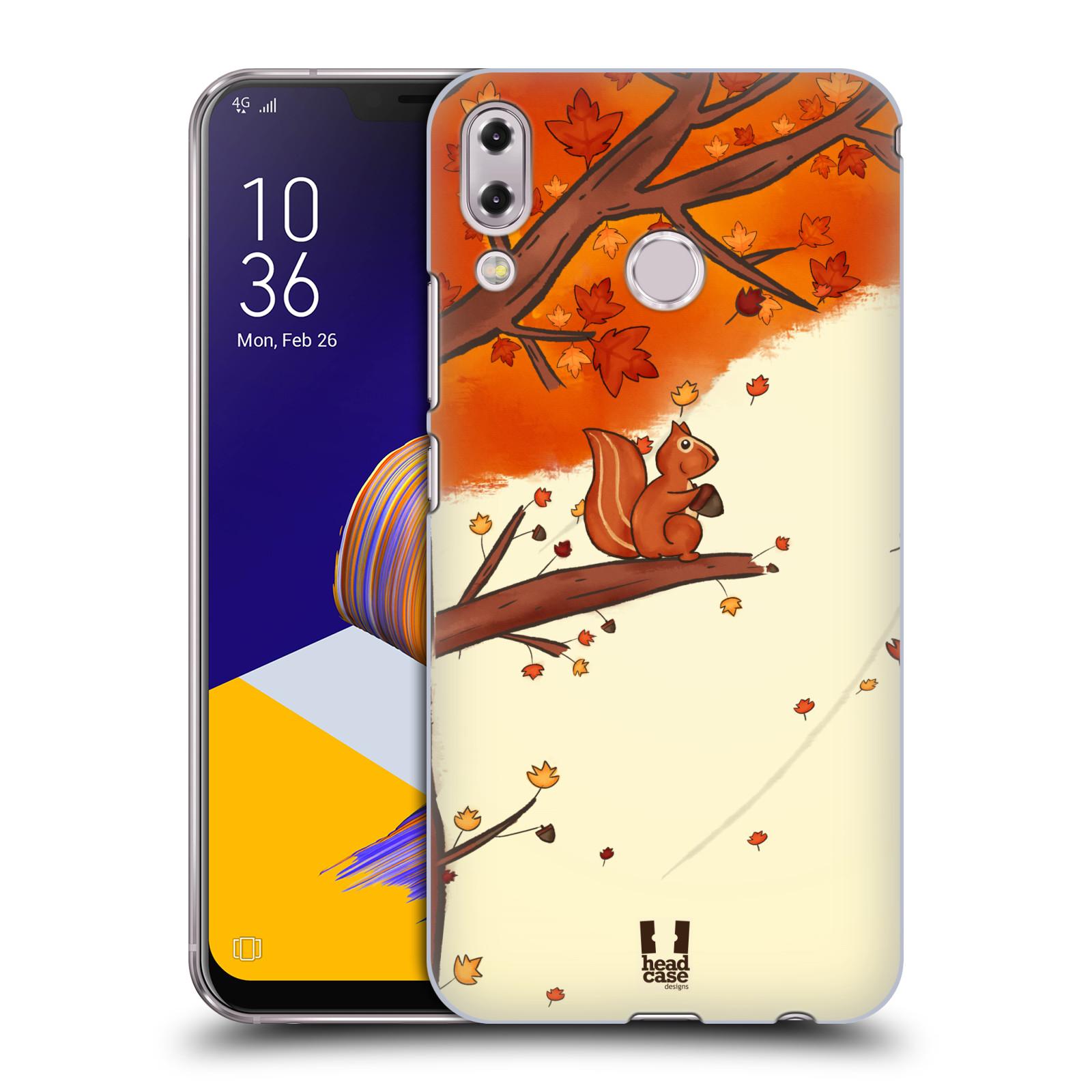 Plastové pouzdro na mobil Asus Zenfone 5z ZS620KL - Head Case - PODZIMNÍ VEVERKA