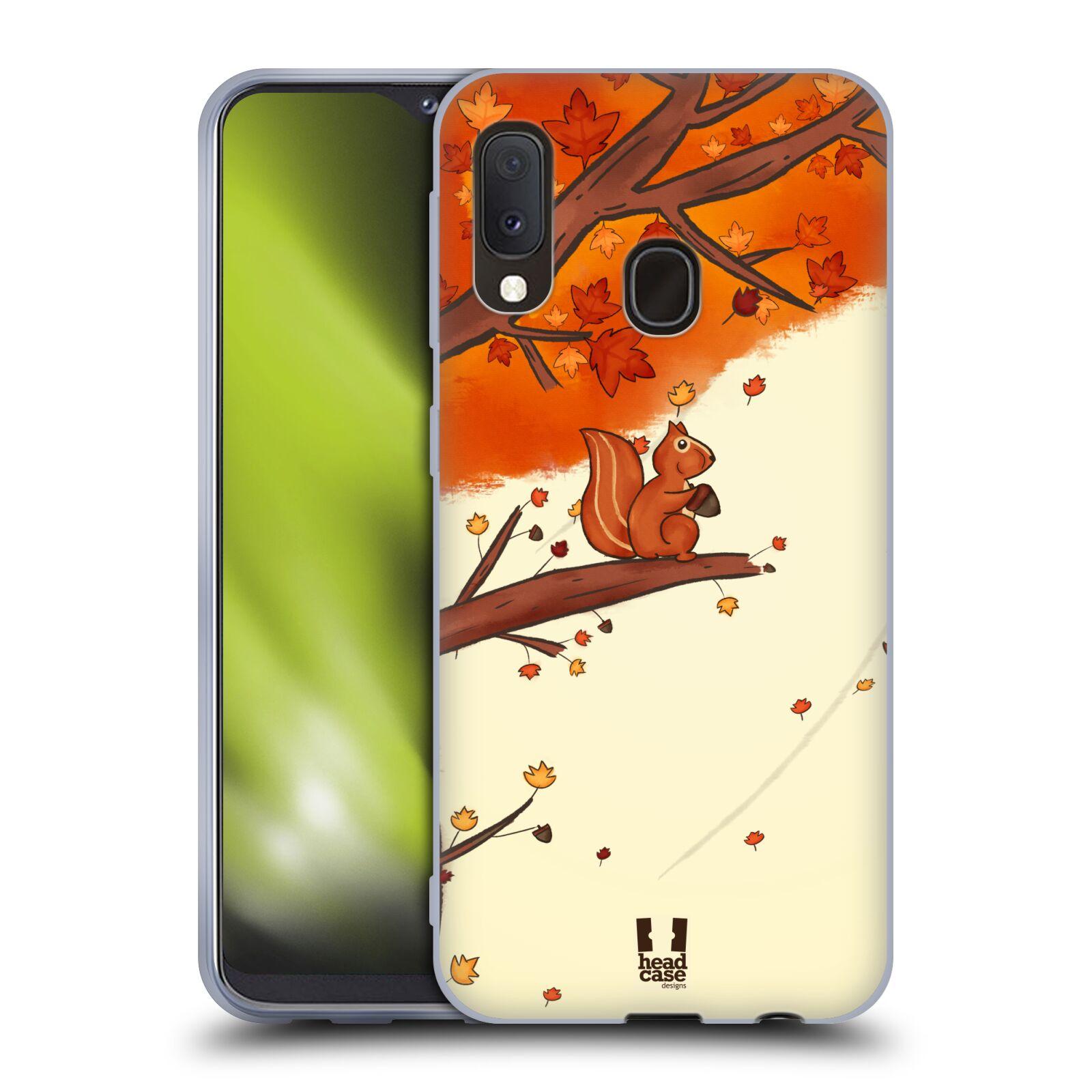 Silikonové pouzdro na mobil Samsung Galaxy A20e - Head Case - PODZIMNÍ VEVERKA