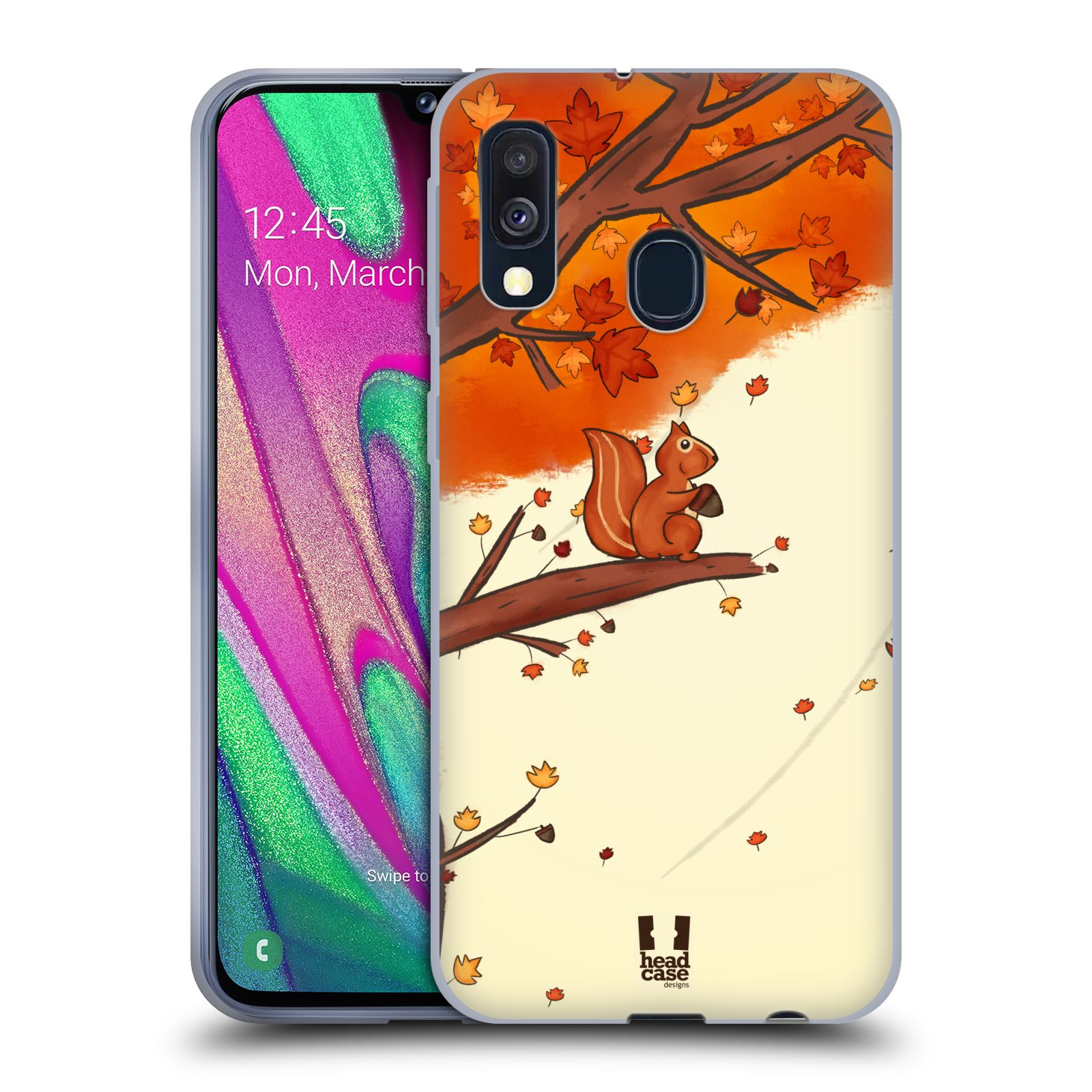Silikonové pouzdro na mobil Samsung Galaxy A40 - Head Case - PODZIMNÍ VEVERKA