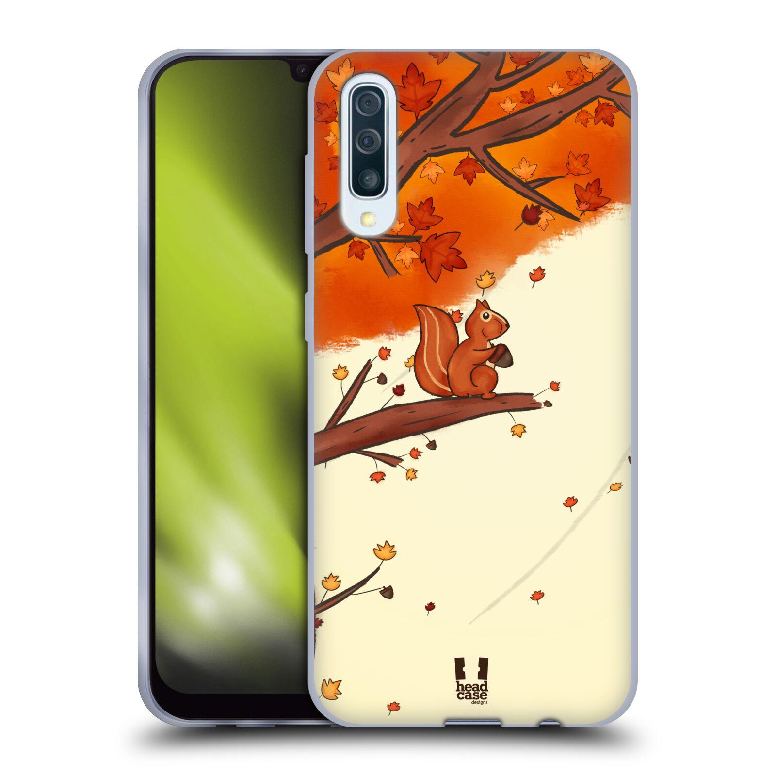 Silikonové pouzdro na mobil Samsung Galaxy A50 / A30s - Head Case - PODZIMNÍ VEVERKA