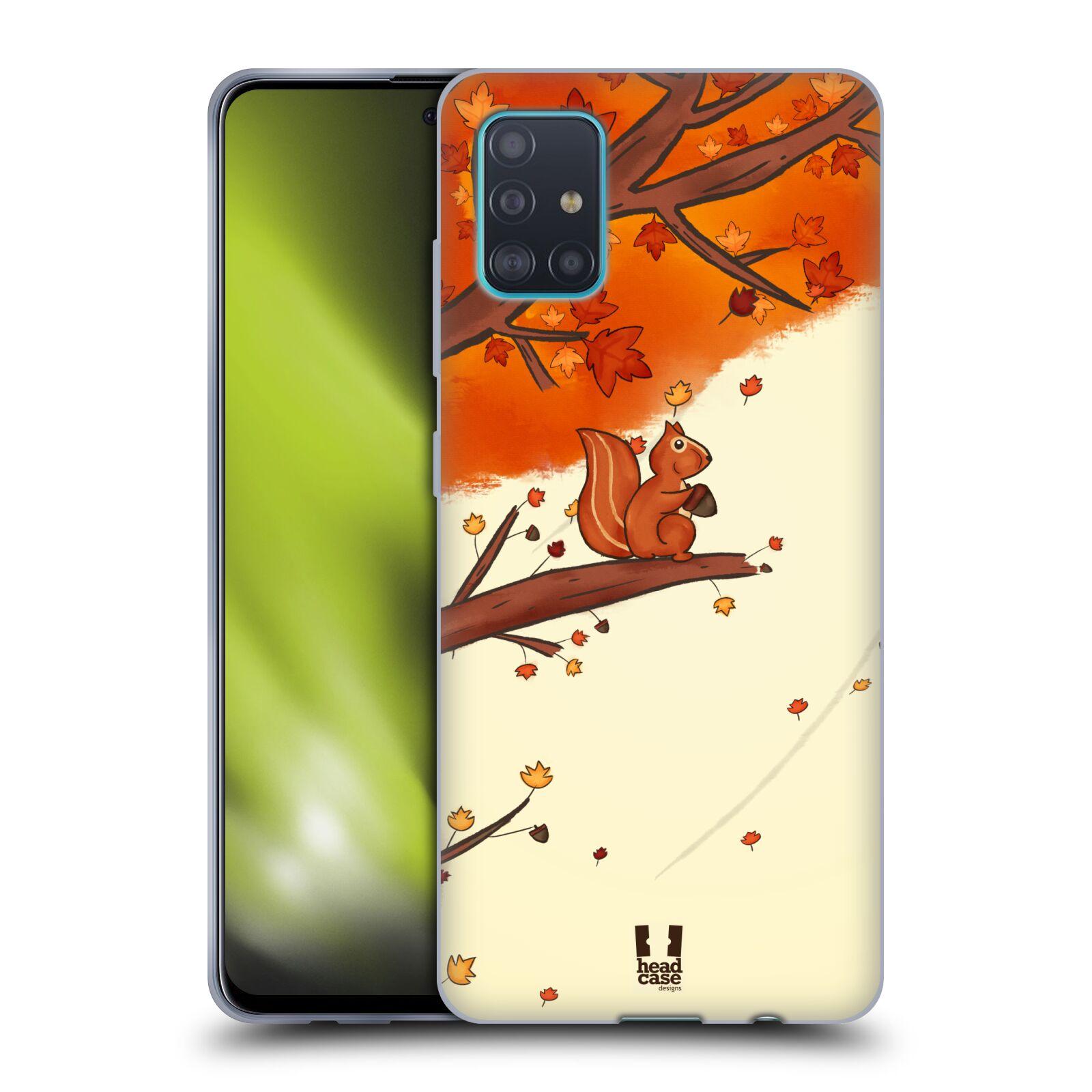 Silikonové pouzdro na mobil Samsung Galaxy A51 - Head Case - PODZIMNÍ VEVERKA