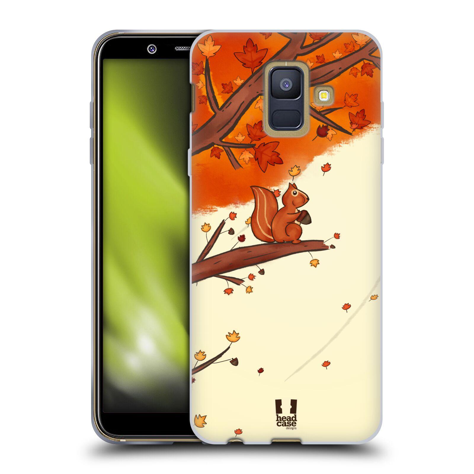 Silikonové pouzdro na mobil Samsung Galaxy A6 (2018) - Head Case - PODZIMNÍ VEVERKA