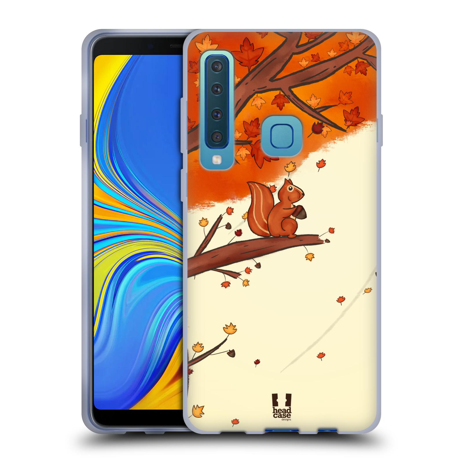 Silikonové pouzdro na mobil Samsung Galaxy A9 (2018) - Head Case - PODZIMNÍ VEVERKA
