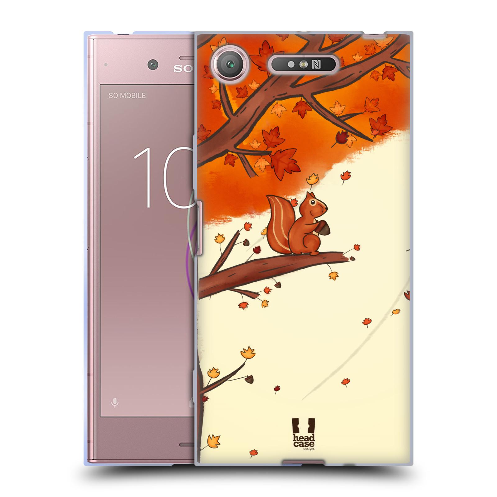 Silikonové pouzdro na mobil Sony Xperia XZ1 - Head Case - PODZIMNÍ VEVERKA