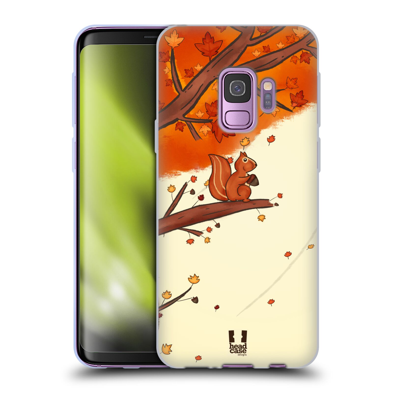 Silikonové pouzdro na mobil Samsung Galaxy S9 - Head Case - PODZIMNÍ VEVERKA