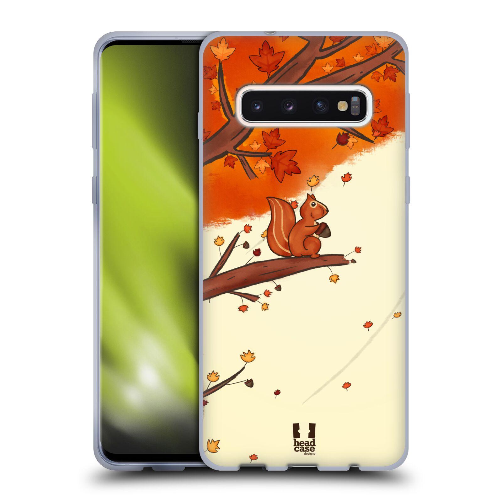 Silikonové pouzdro na mobil Samsung Galaxy S10 - Head Case - PODZIMNÍ VEVERKA