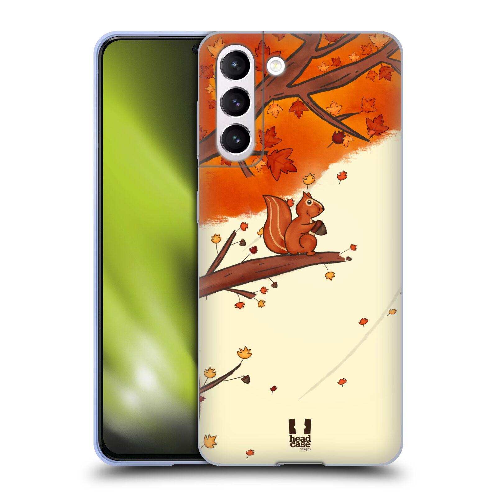 Silikonové pouzdro na mobil Samsung Galaxy S21 5G - Head Case - PODZIMNÍ VEVERKA