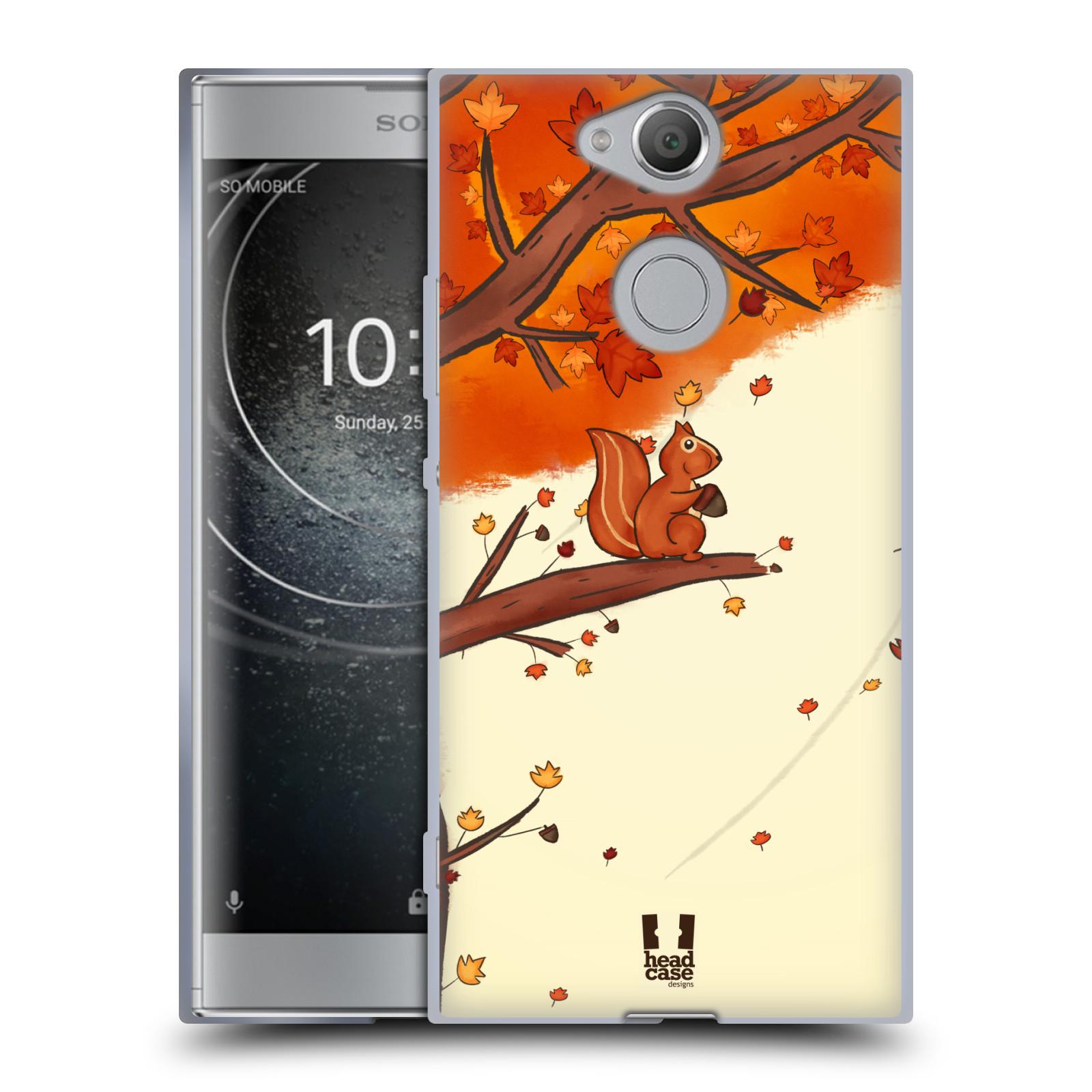 Silikonové pouzdro na mobil Sony Xperia XA2 - Head Case - PODZIMNÍ VEVERKA