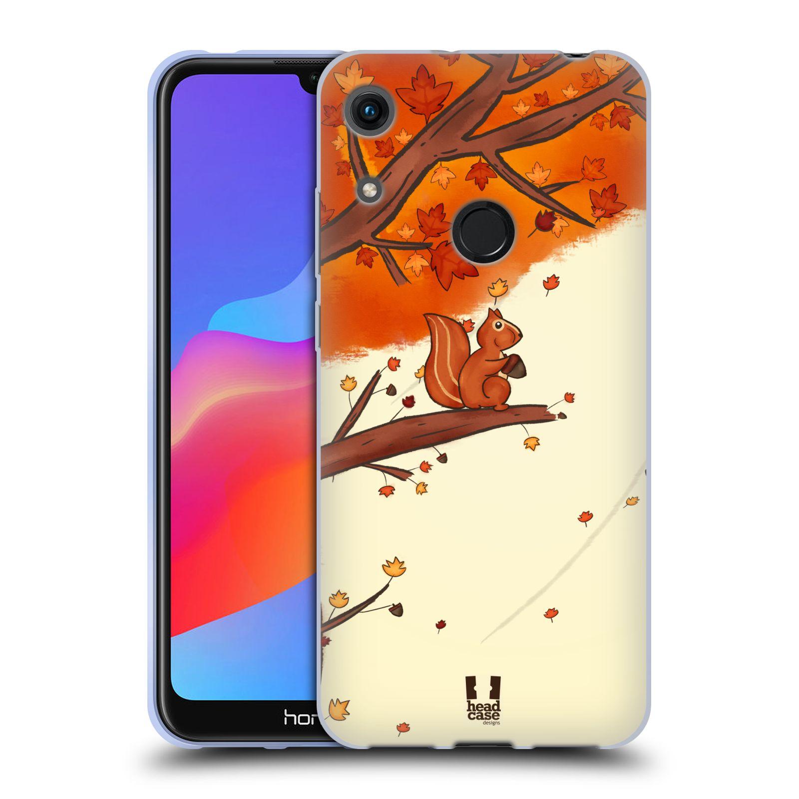 Silikonové pouzdro na mobil Honor 8A - Head Case - PODZIMNÍ VEVERKA