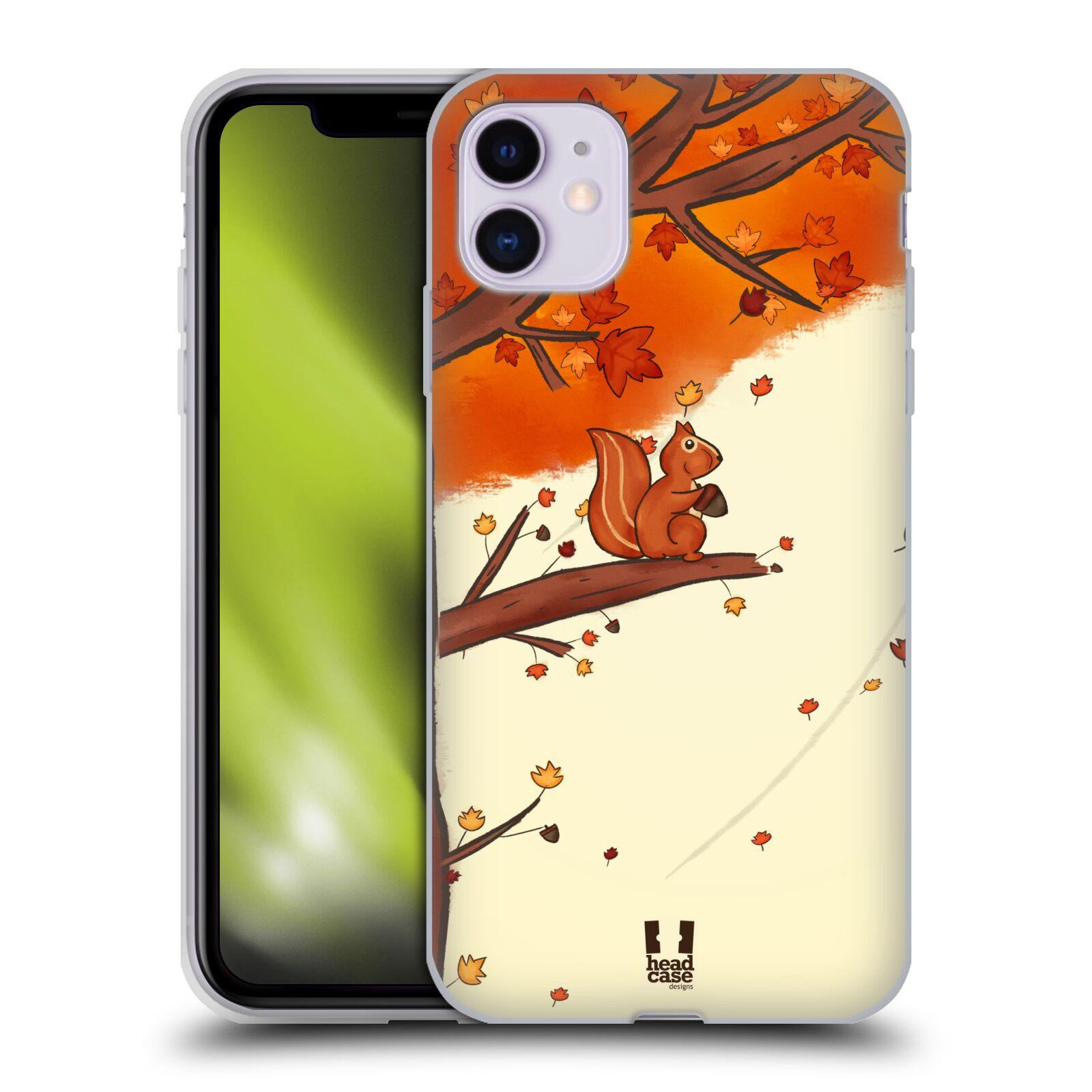 Silikonové pouzdro na mobil Apple iPhone 11 - Head Case - PODZIMNÍ VEVERKA