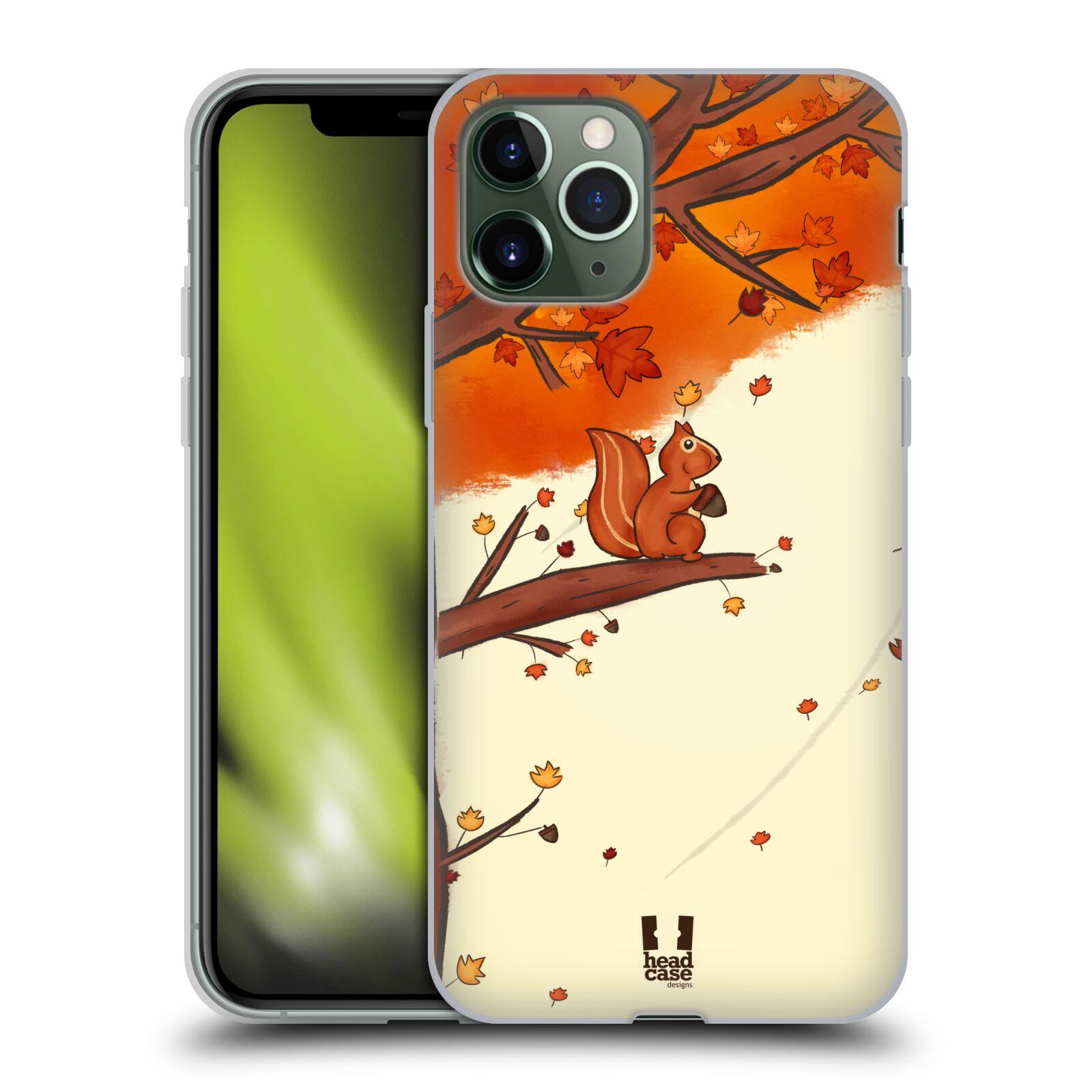 iphone x obal original , Silikonové pouzdro na mobil Apple iPhone 11 Pro - Head Case - PODZIMNÍ VEVERKA