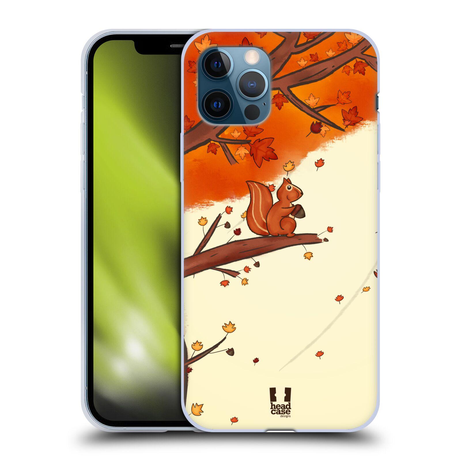 Silikonové pouzdro na mobil Apple iPhone 12 / 12 Pro - Head Case - PODZIMNÍ VEVERKA