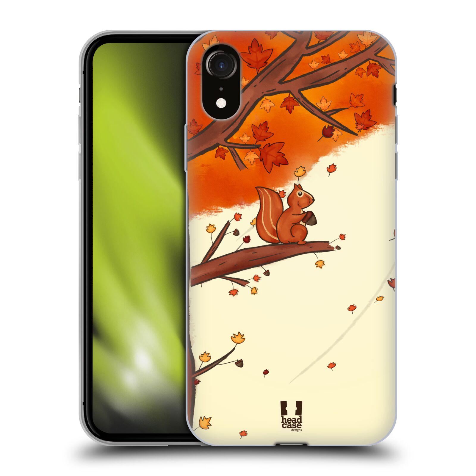 Silikonové pouzdro na mobil Apple iPhone XR - Head Case - PODZIMNÍ VEVERKA