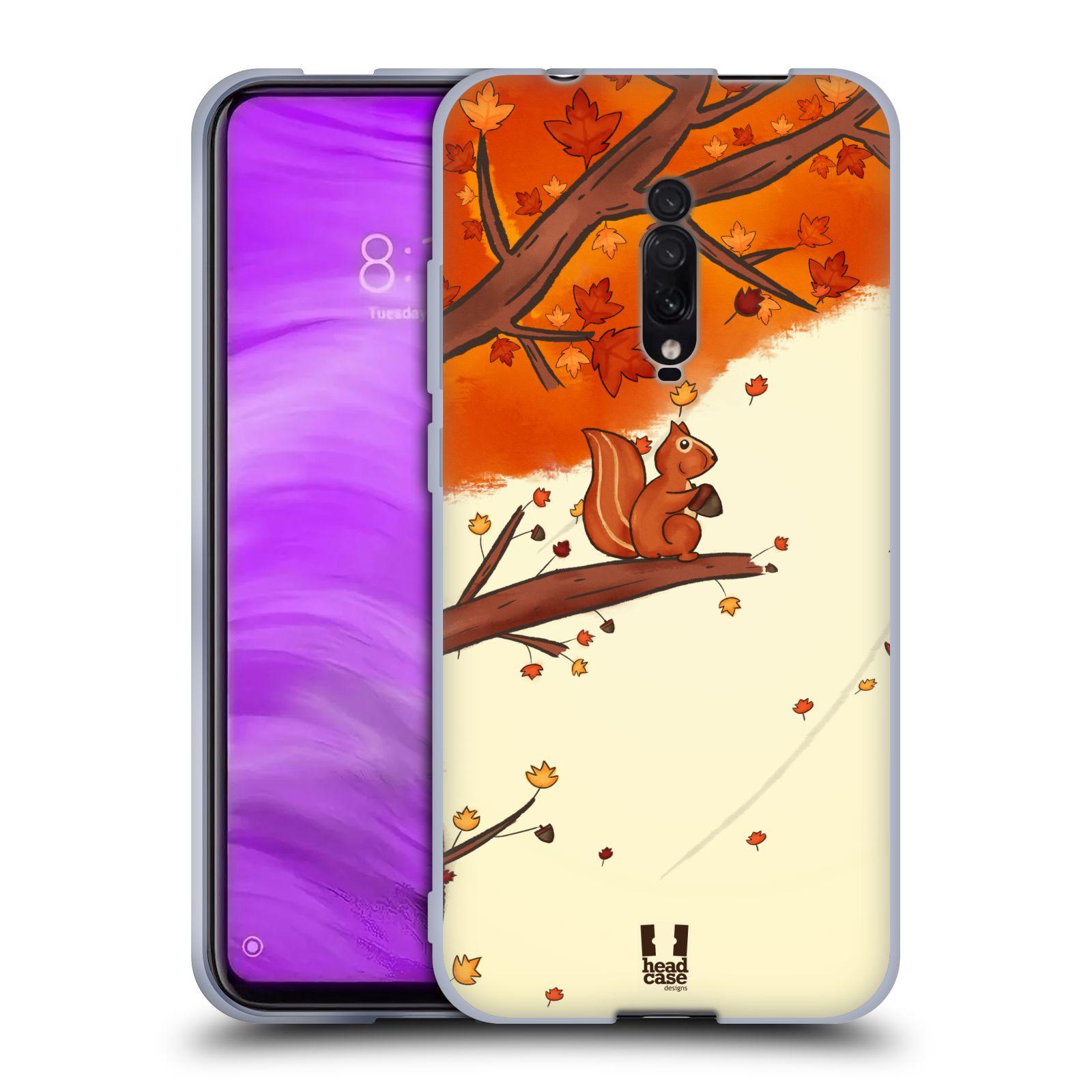 Silikonové pouzdro na mobil Xiaomi Mi 9T - Head Case - PODZIMNÍ VEVERKA