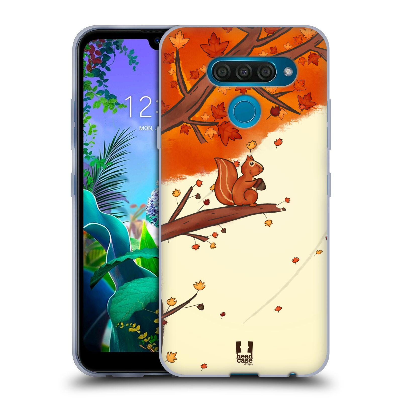 Silikonové pouzdro na mobil LG Q60 - Head Case - PODZIMNÍ VEVERKA