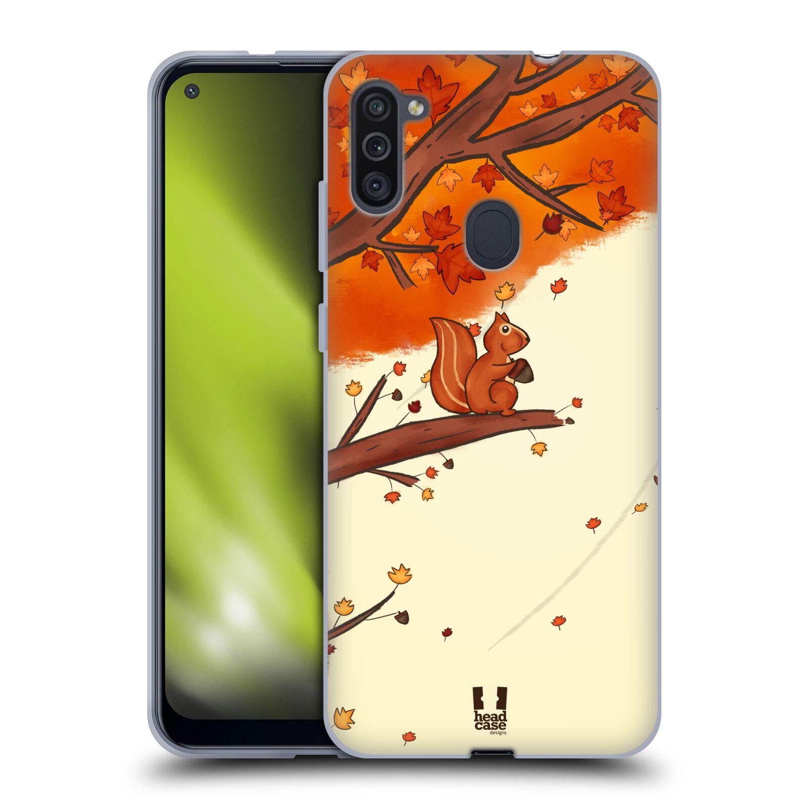 Silikonové pouzdro na mobil Samsung Galaxy M11 - Head Case - PODZIMNÍ VEVERKA