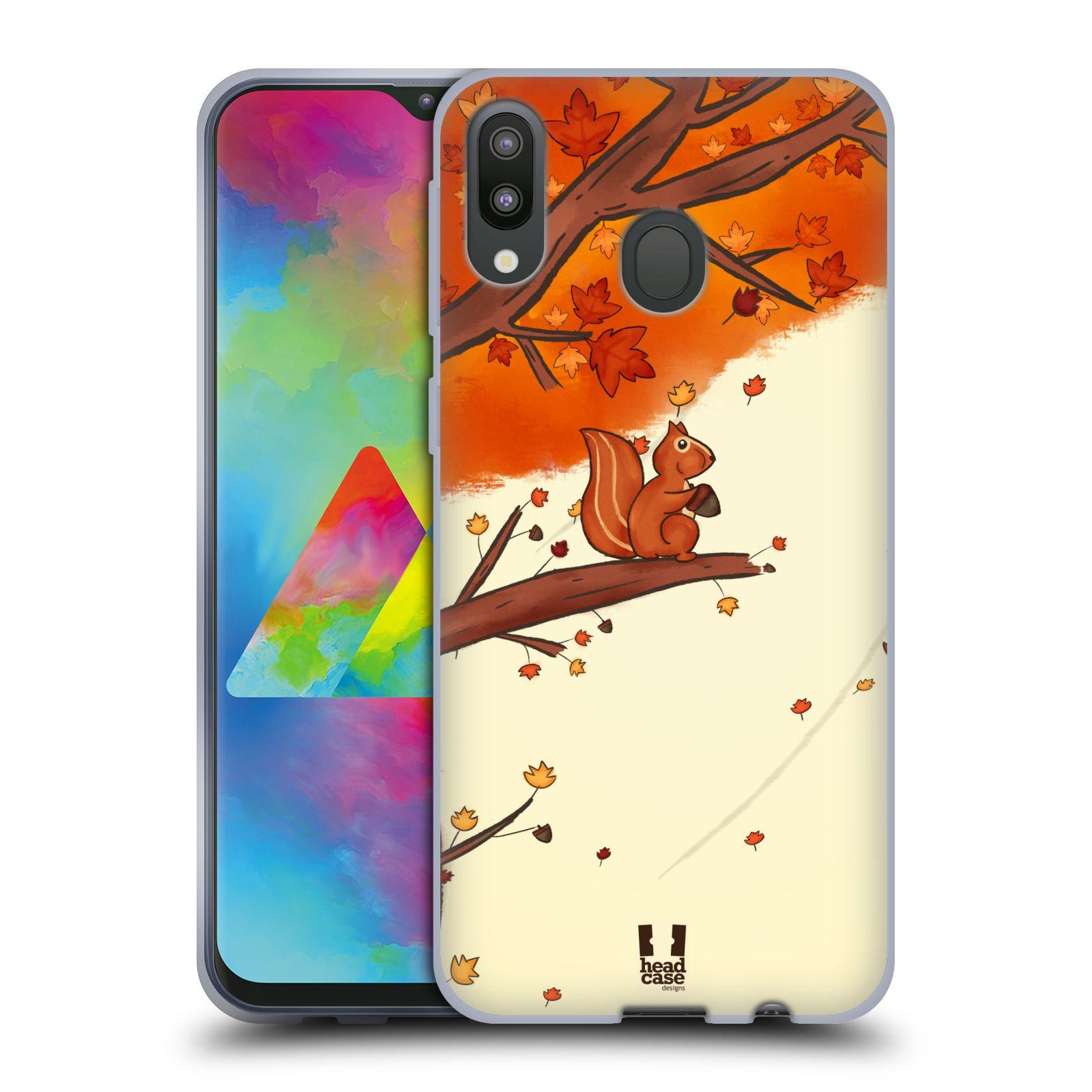 Silikonové pouzdro na mobil Samsung Galaxy M20 - Head Case - PODZIMNÍ VEVERKA