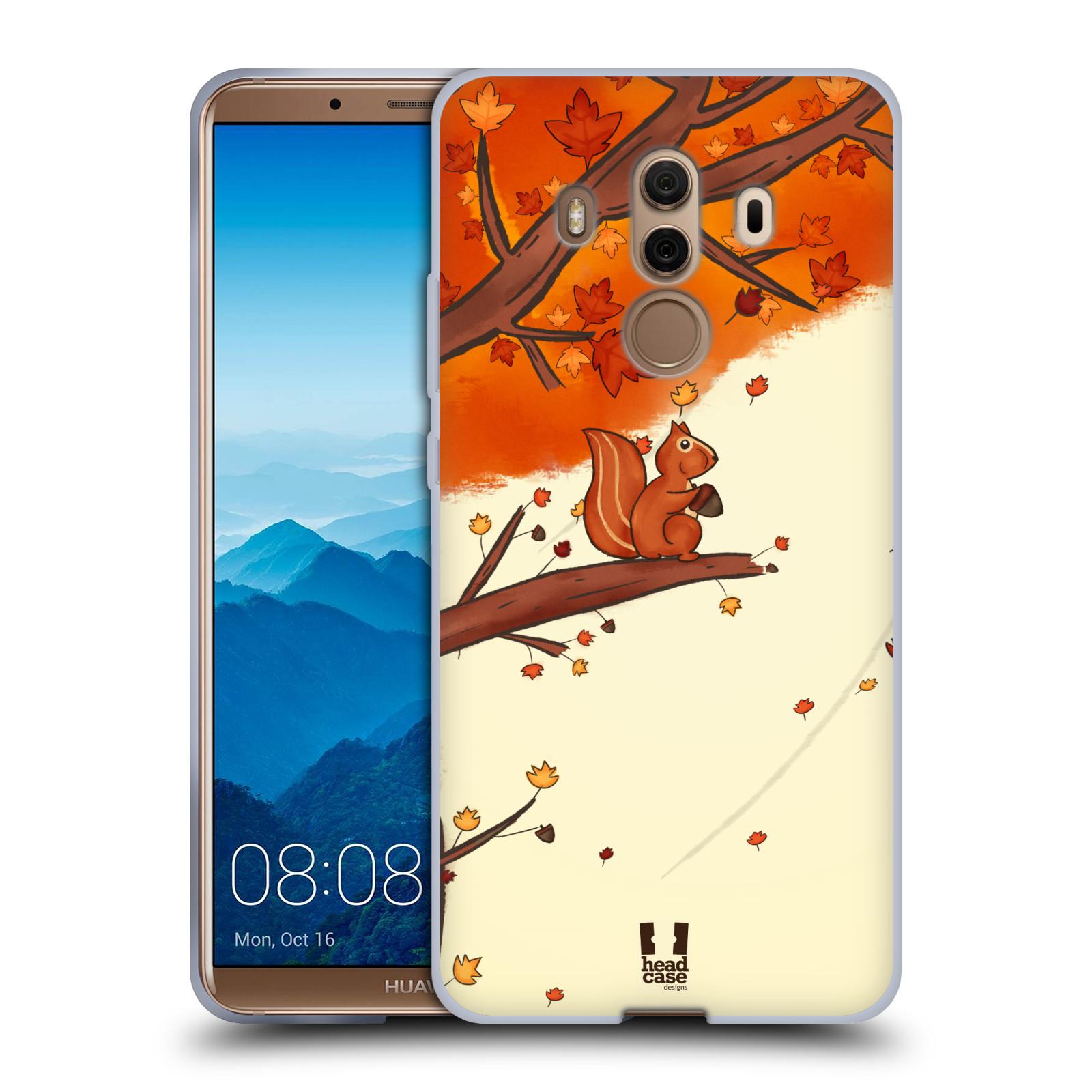 Silikonové pouzdro na mobil Huawei Mate 10 Pro - Head Case - PODZIMNÍ VEVERKA
