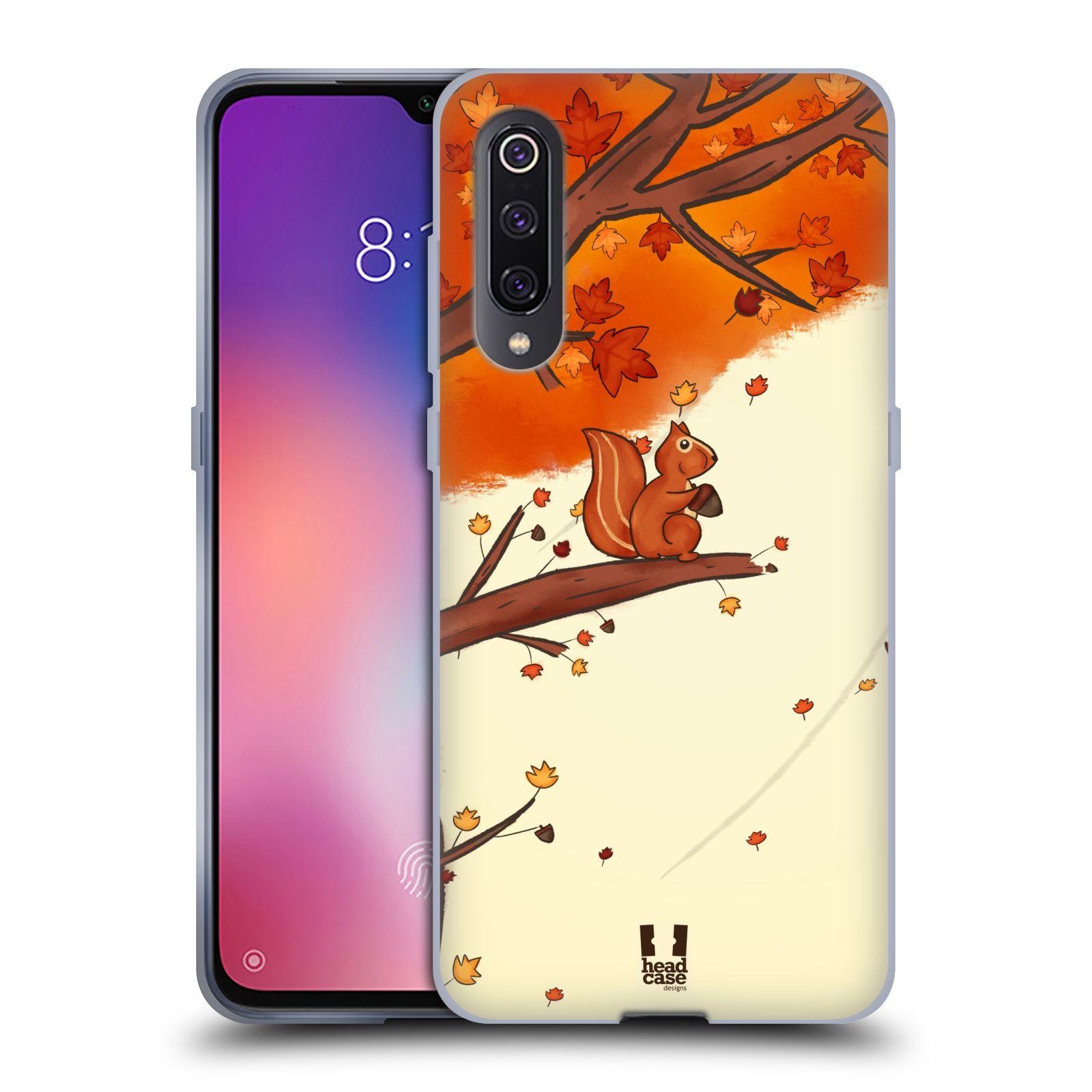 Silikonové pouzdro na mobil Xiaomi Mi 9 - Head Case - PODZIMNÍ VEVERKA