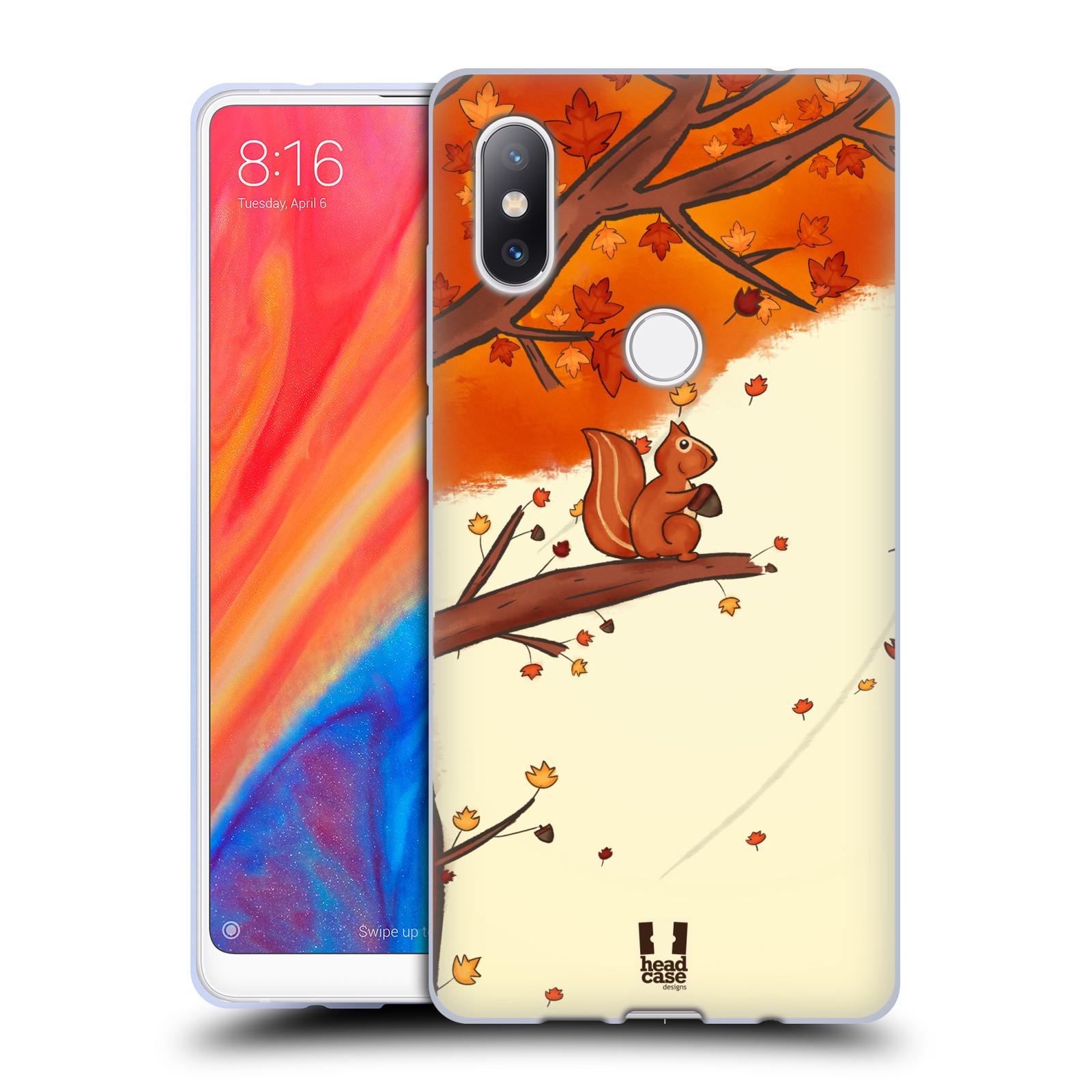 Silikonové pouzdro na mobil Xiaomi Mi Mix 2S - Head Case - PODZIMNÍ VEVERKA