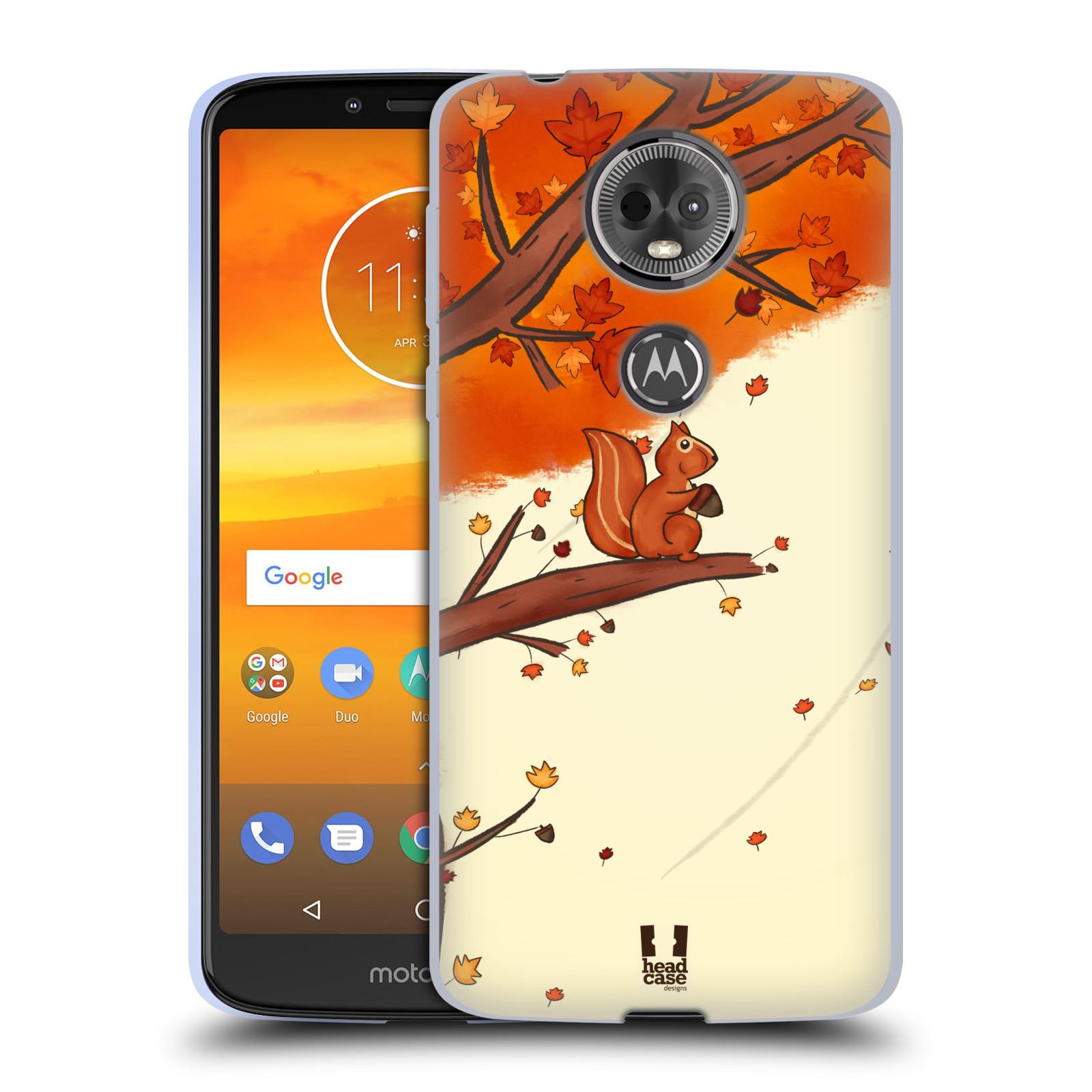 Silikonové pouzdro na mobil Motorola Moto E5 Plus - Head Case - PODZIMNÍ VEVERKA
