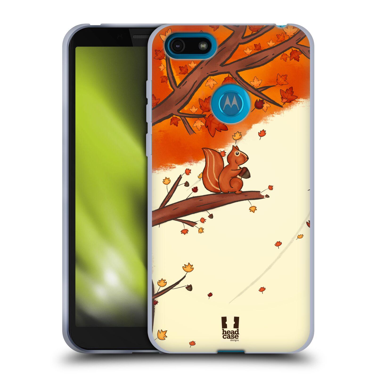 Silikonové pouzdro na mobil Motorola Moto E6 Play - Head Case - PODZIMNÍ VEVERKA