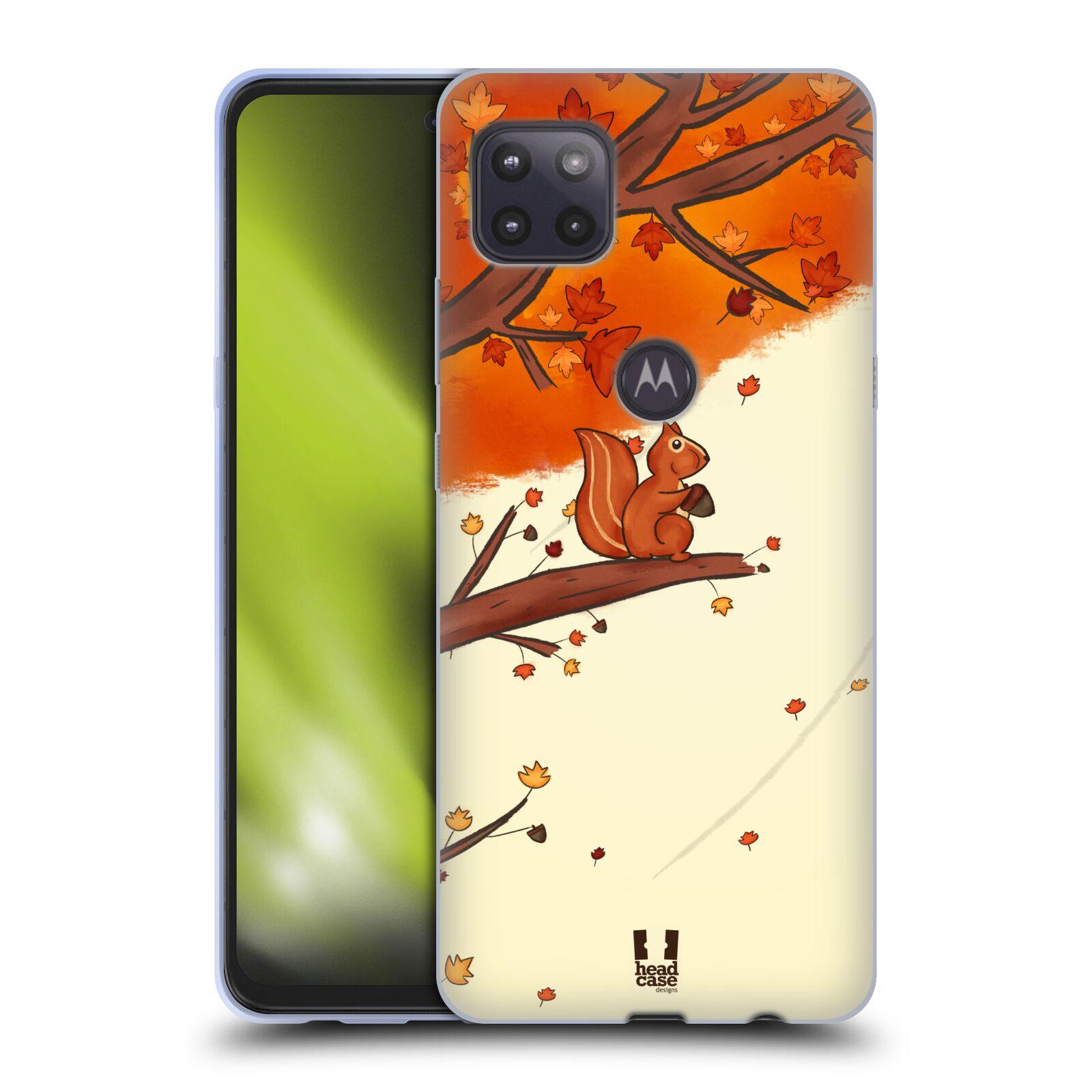 Silikonové pouzdro na mobil Motorola Moto G 5G - Head Case - PODZIMNÍ VEVERKA